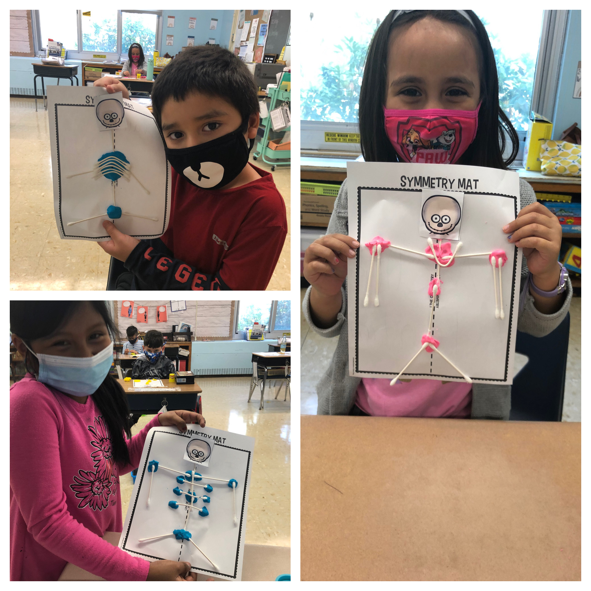Hampton Bays Elementary School second grade students learned about bones as part of a cross-curricular unit.