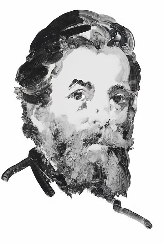 Author Herman Melville. Portrait by Eric Fischl.