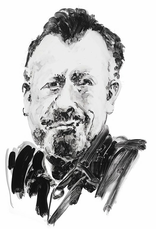 Author John Steinbeck. Portrait by Eric Fischl.