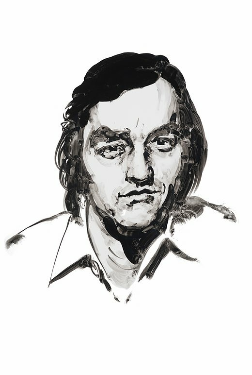 Playwright Lanford Wilson. Portrait by Eric Fischl.