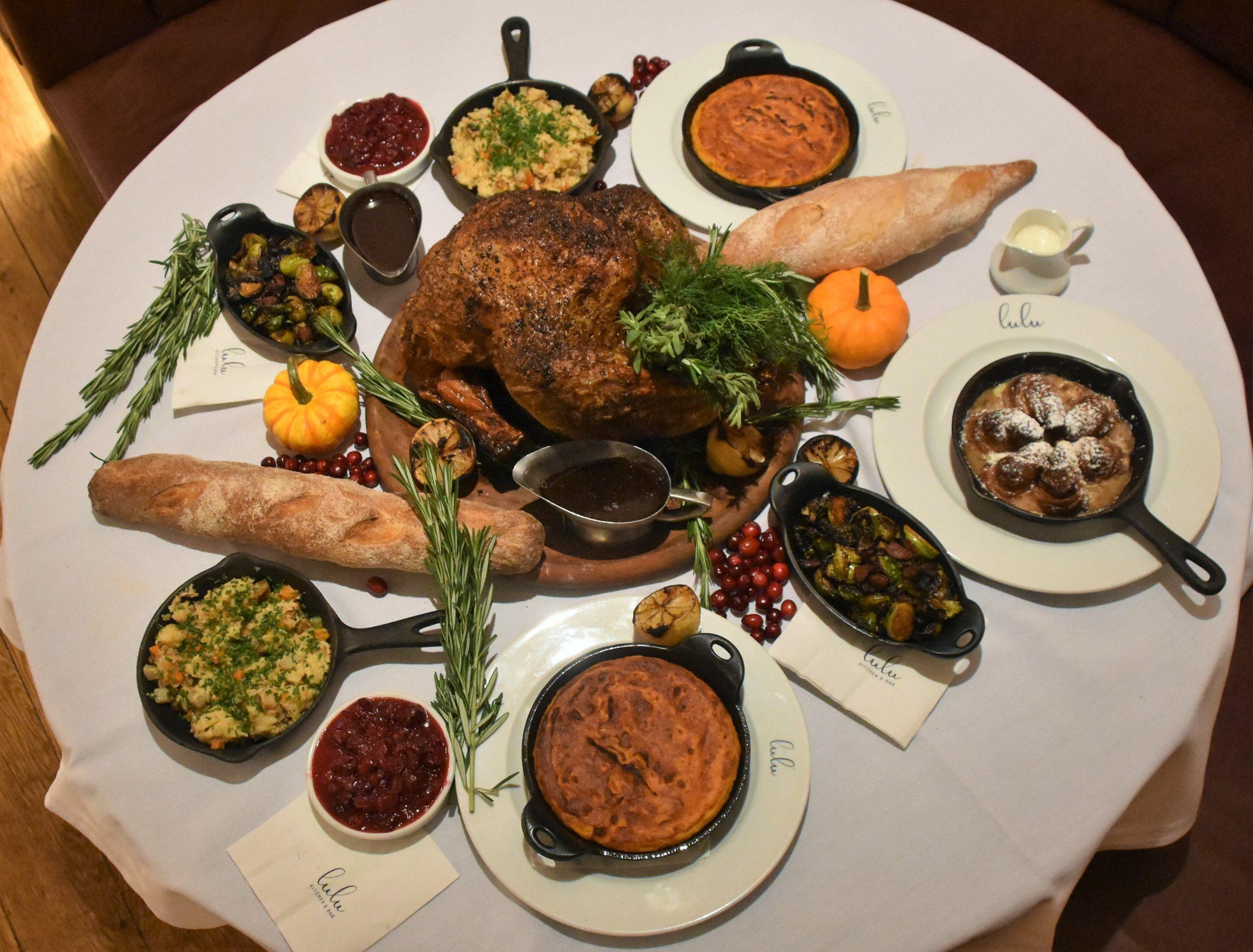 Lulu's Thanksgiving spread.