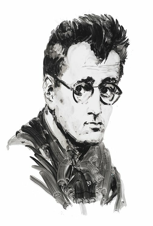 Author Nelson Algren. Portrait by Eric Fischl.