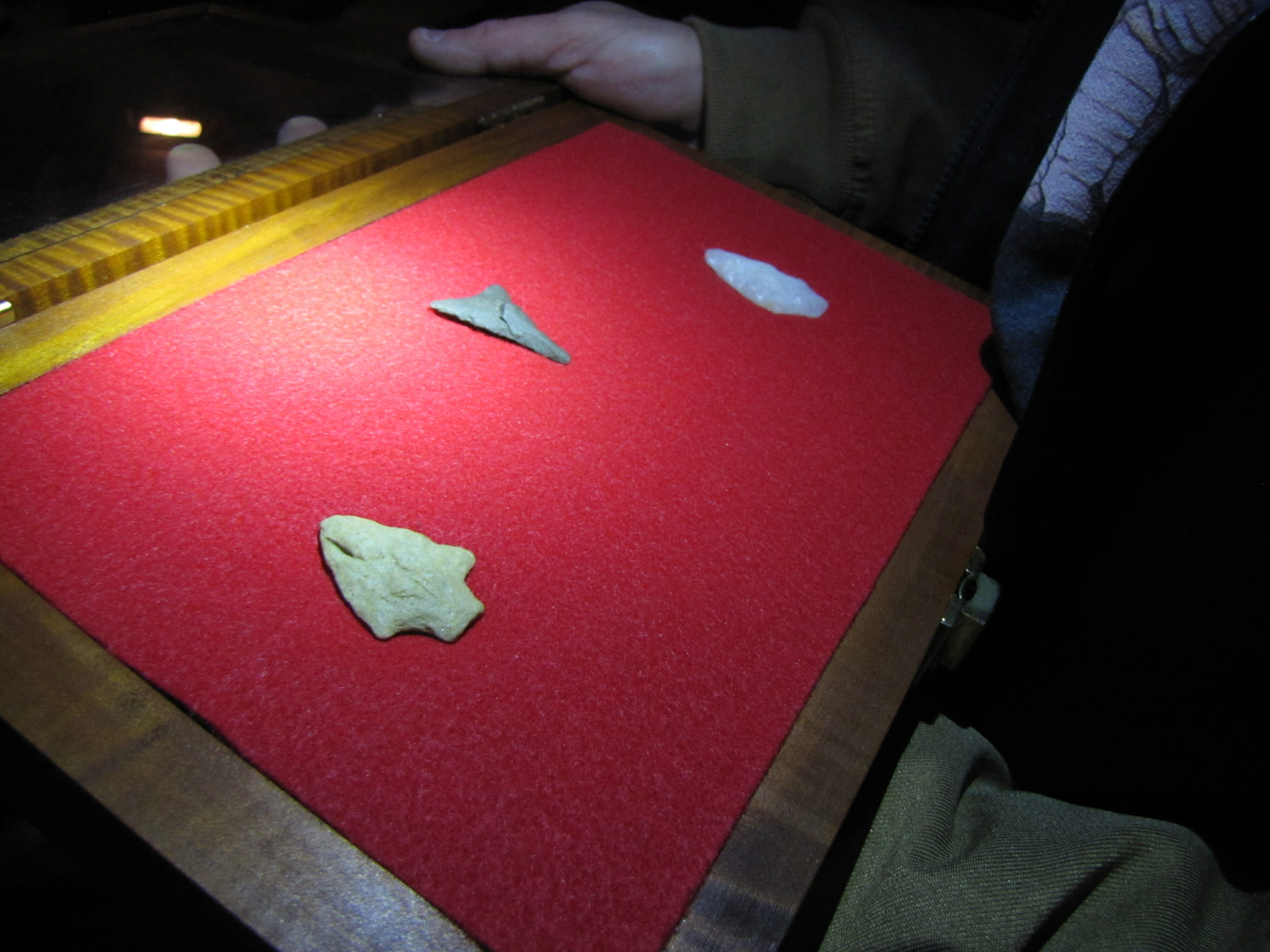 Orson Frisbie has found more than 40 ancient Native American arrow and spear points and other artifacts, many of them thousands of years old, while scouring local beaches.