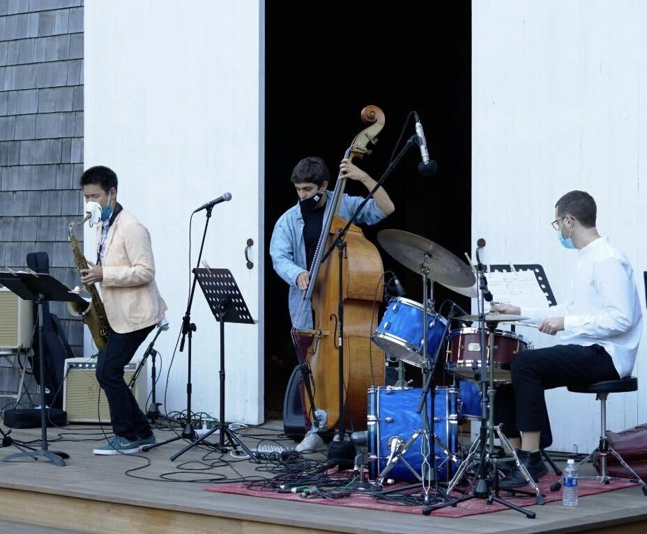Simón Willson Trio performs a virtual concert at St. Luke's Episcopal Church in East Hampton.