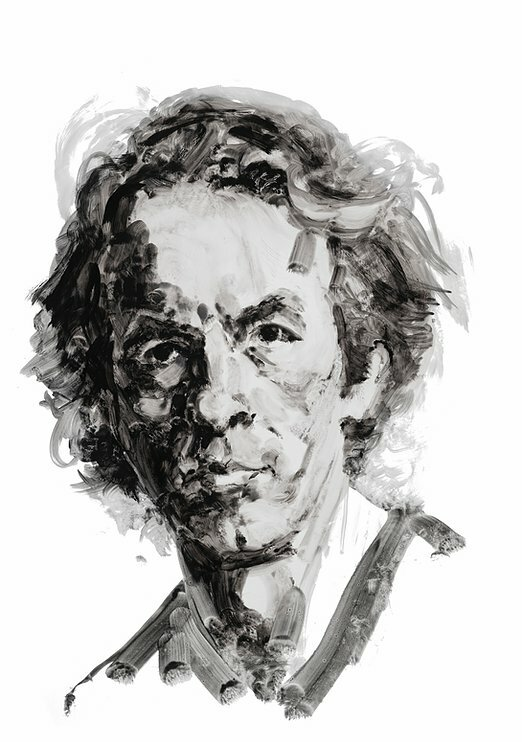 Monologist and actor Spalding Gray. Portrait by Eric Fischl.