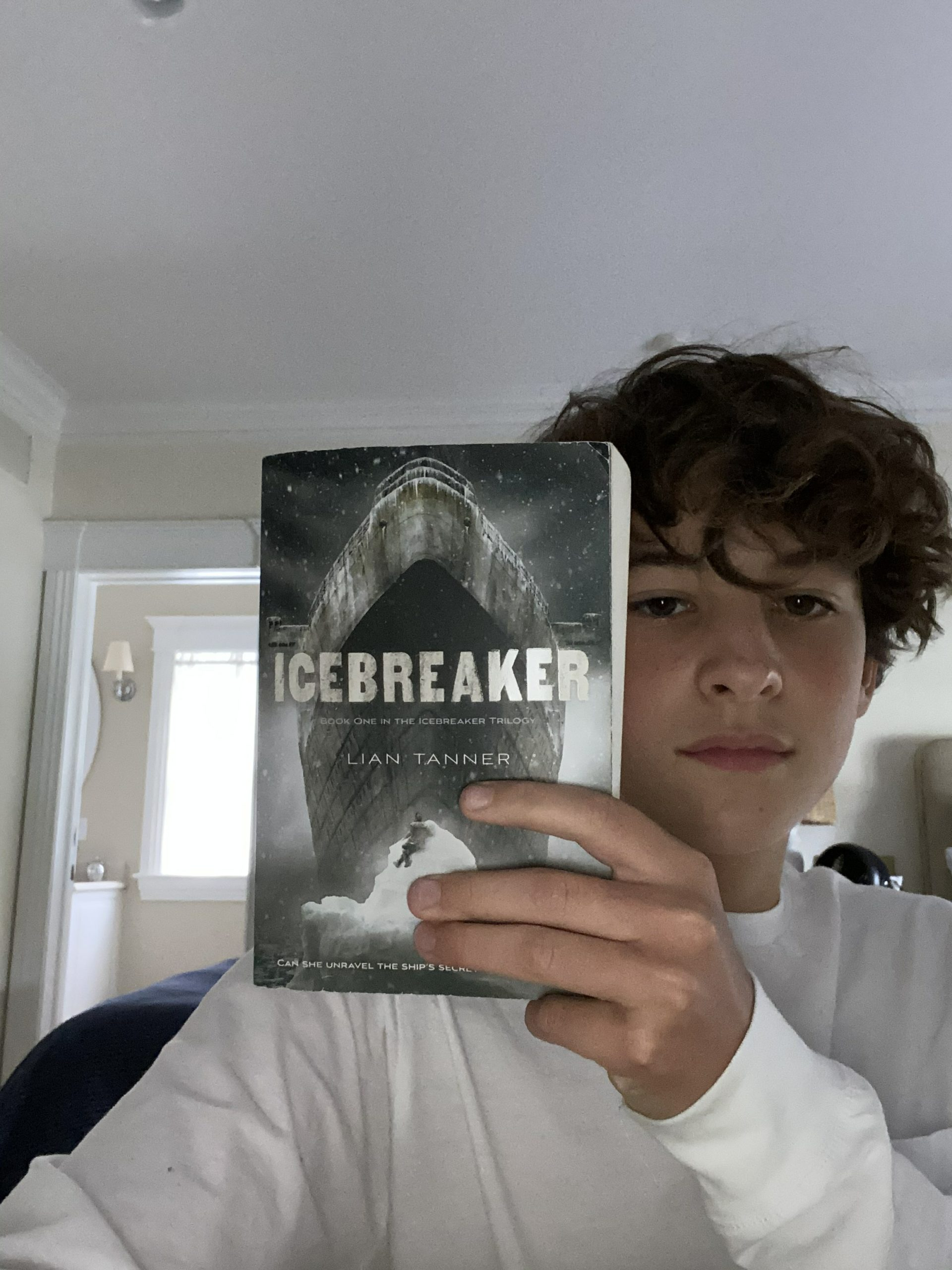 """Westhampton Beach Middle School student Alexandre Schroeder wrote to and received a letter back from """"Icebreaker"""" author Lian Tanner."""