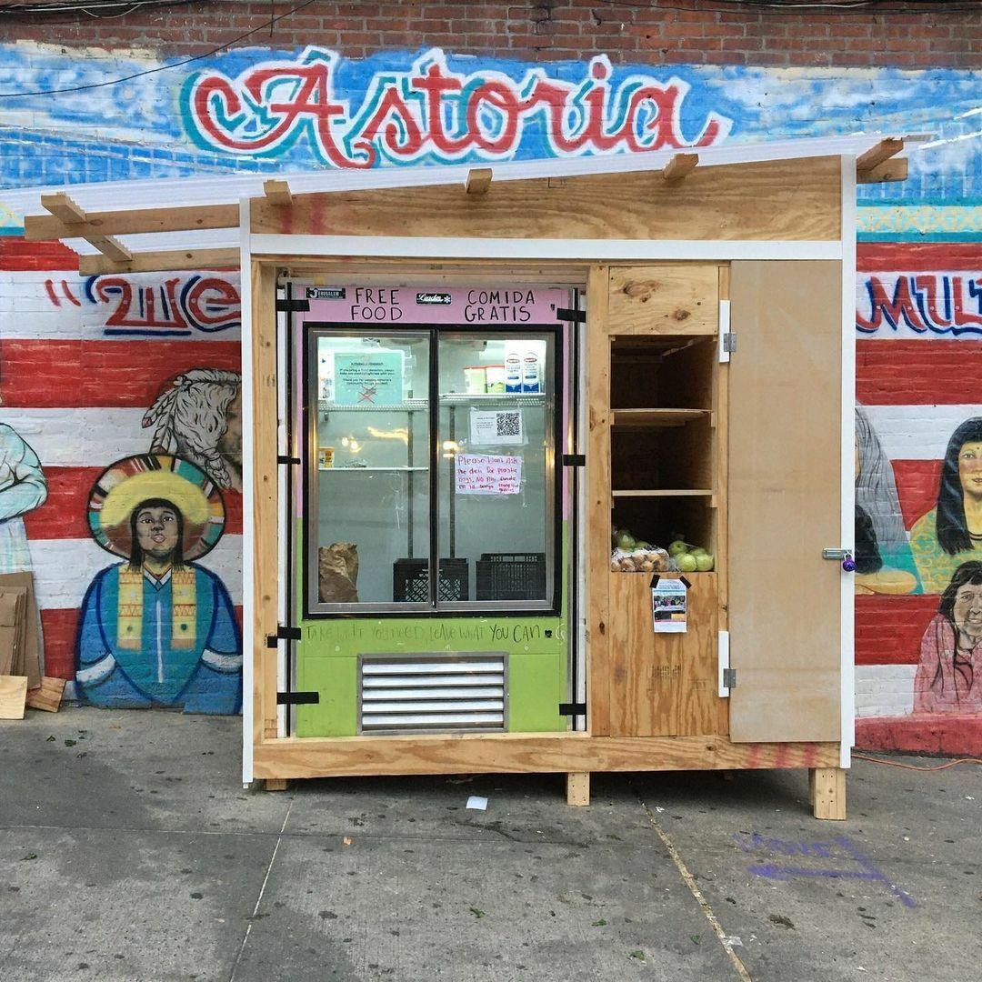 Community Fridge in Astoria.