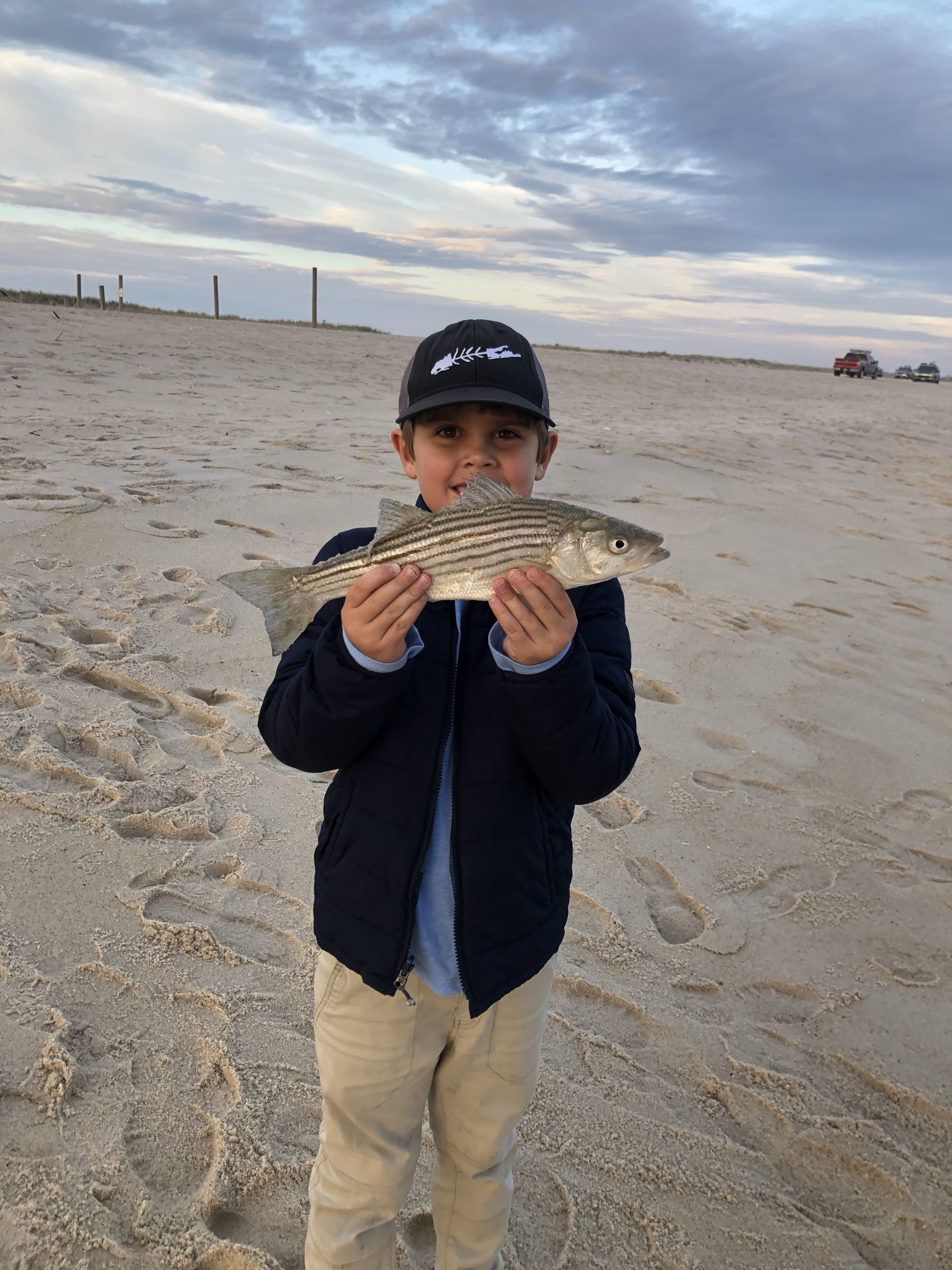 It was a day for the young ones on Saturday and 6-year-old Thomas Capalbo had a blast catching lots of pint-sized striped bass.