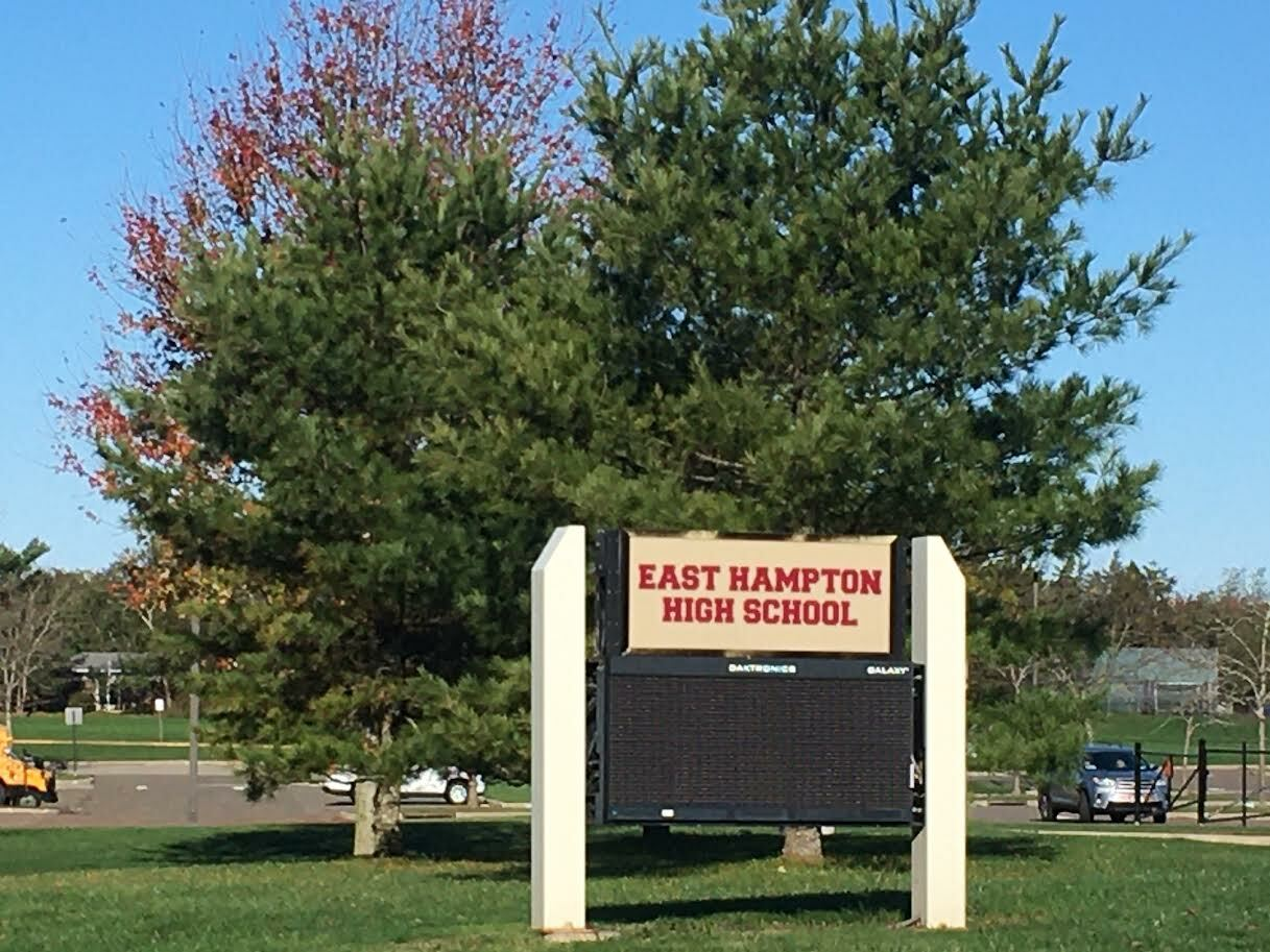 East Hampton High School went to full remote instruction for four days after confirmed cases of coronavirus were reported. KITTY MERRILL