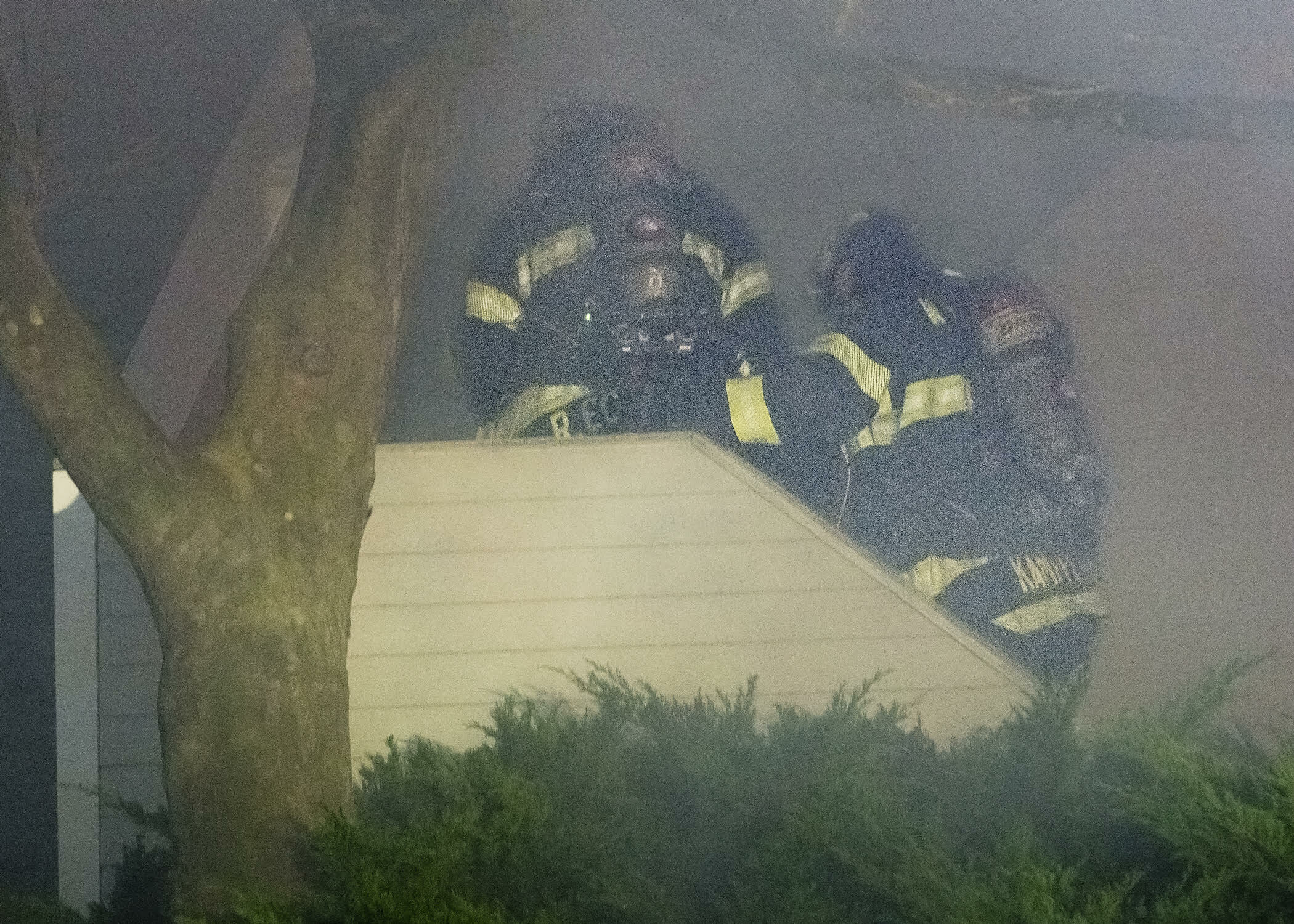 Firefighters encountered heavy smoke conditions upon their arrival. COURTESY WESTHAMPTON BEACH FIRE DEPARTMENT