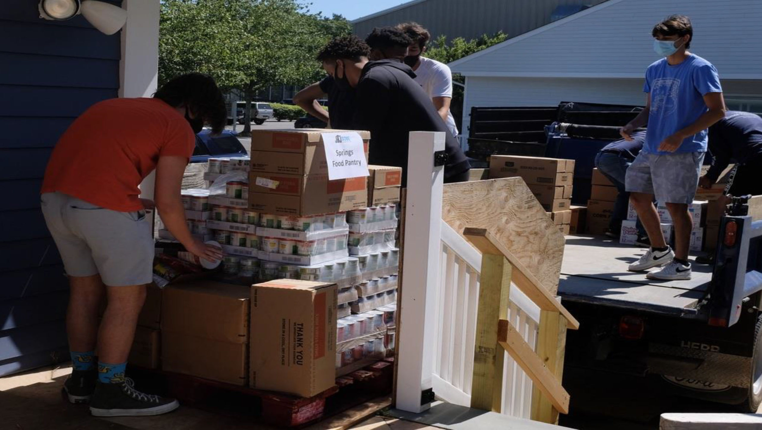 Rock star Jon Bon Jovi and his wife Dorothea's charity, JBJ Soul Foundation, spent $500,000 over the summer to   create a food bank for South Fork food pantries. The food bank and its volunteers distributed 238 tons of food to local residents over 18 weeks from May to September.