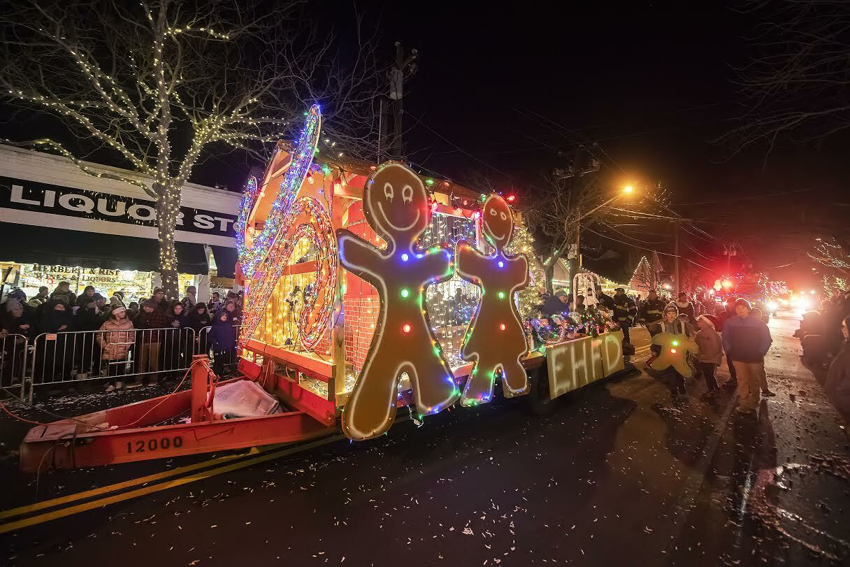 The annual Parade of Lights won't take place in Southampton Village this year. MICHAEL HELLER
