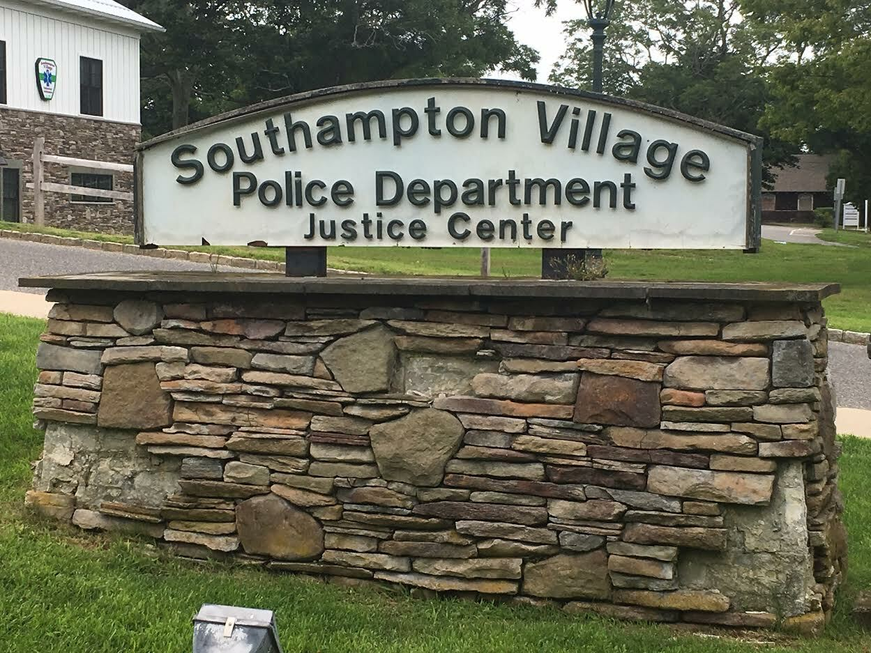 A Bellport man faces felony charges after Southampton Village Police say he used a baseball bat to smash the windshields of police cars in teh headquarters lot. KITTY MERRILL