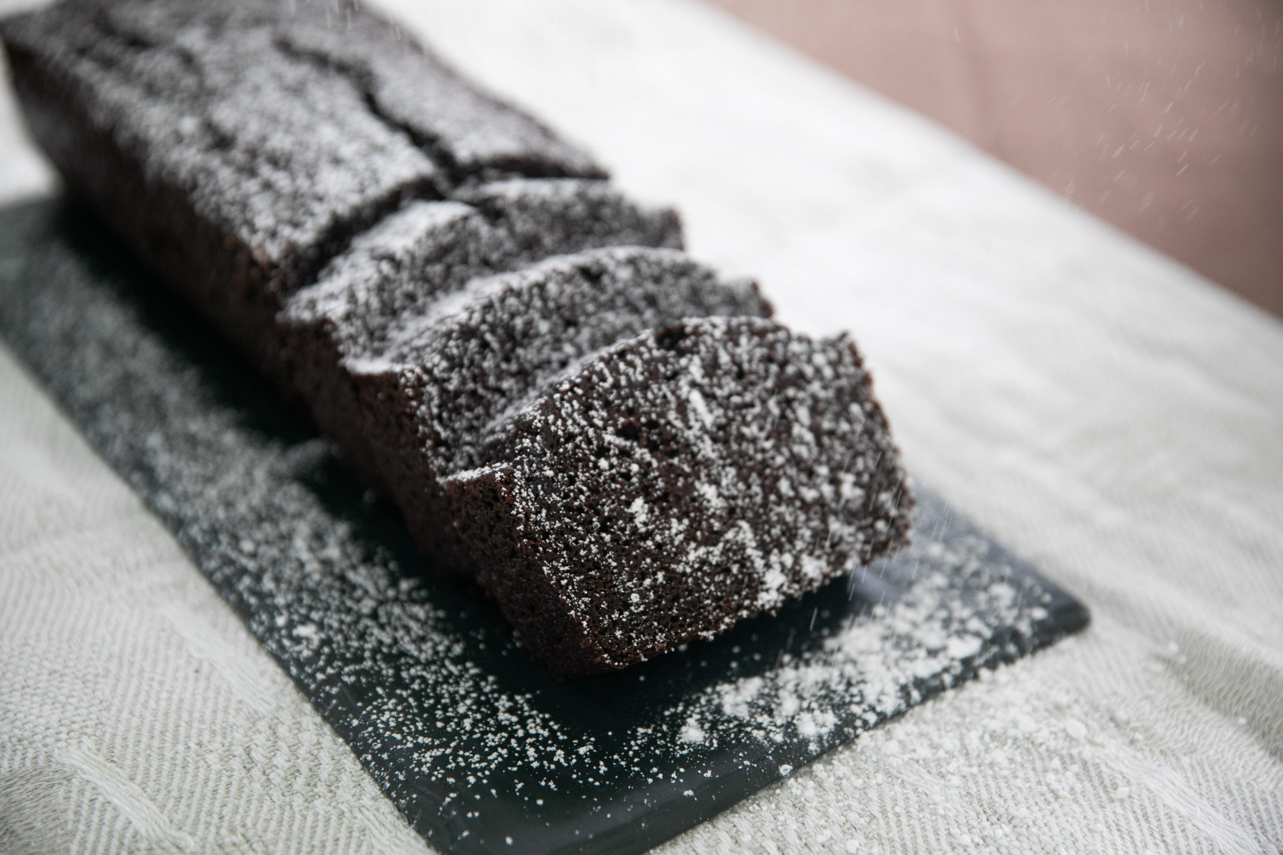 Chocolate stout loaf cake, a winter recipe from the Loaves & Fishes Farm Series.