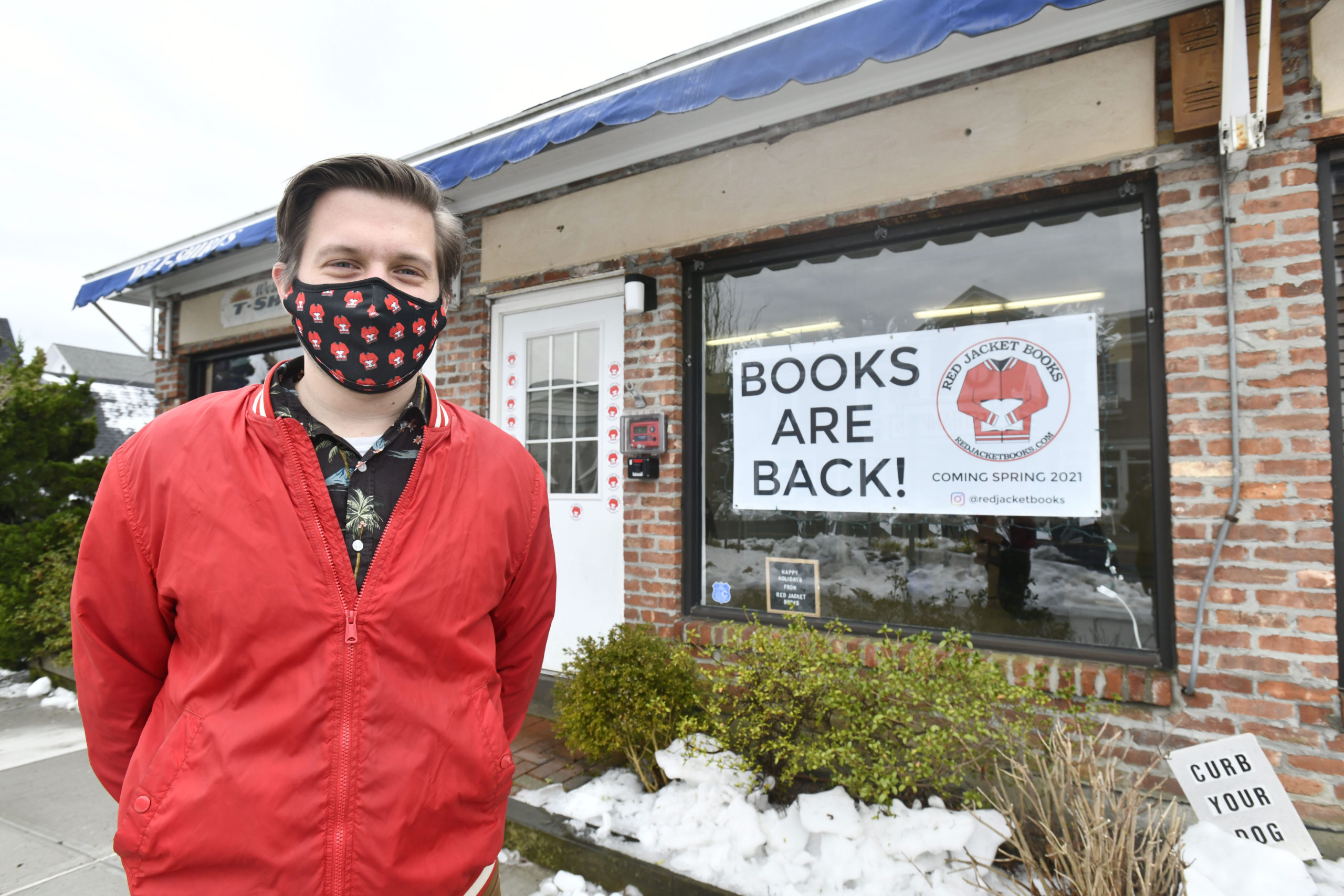 Ben Vengroff will be oepning Red Jacket Books on Main Street in Westhampton Beach in the Spring.   DANA SHAW