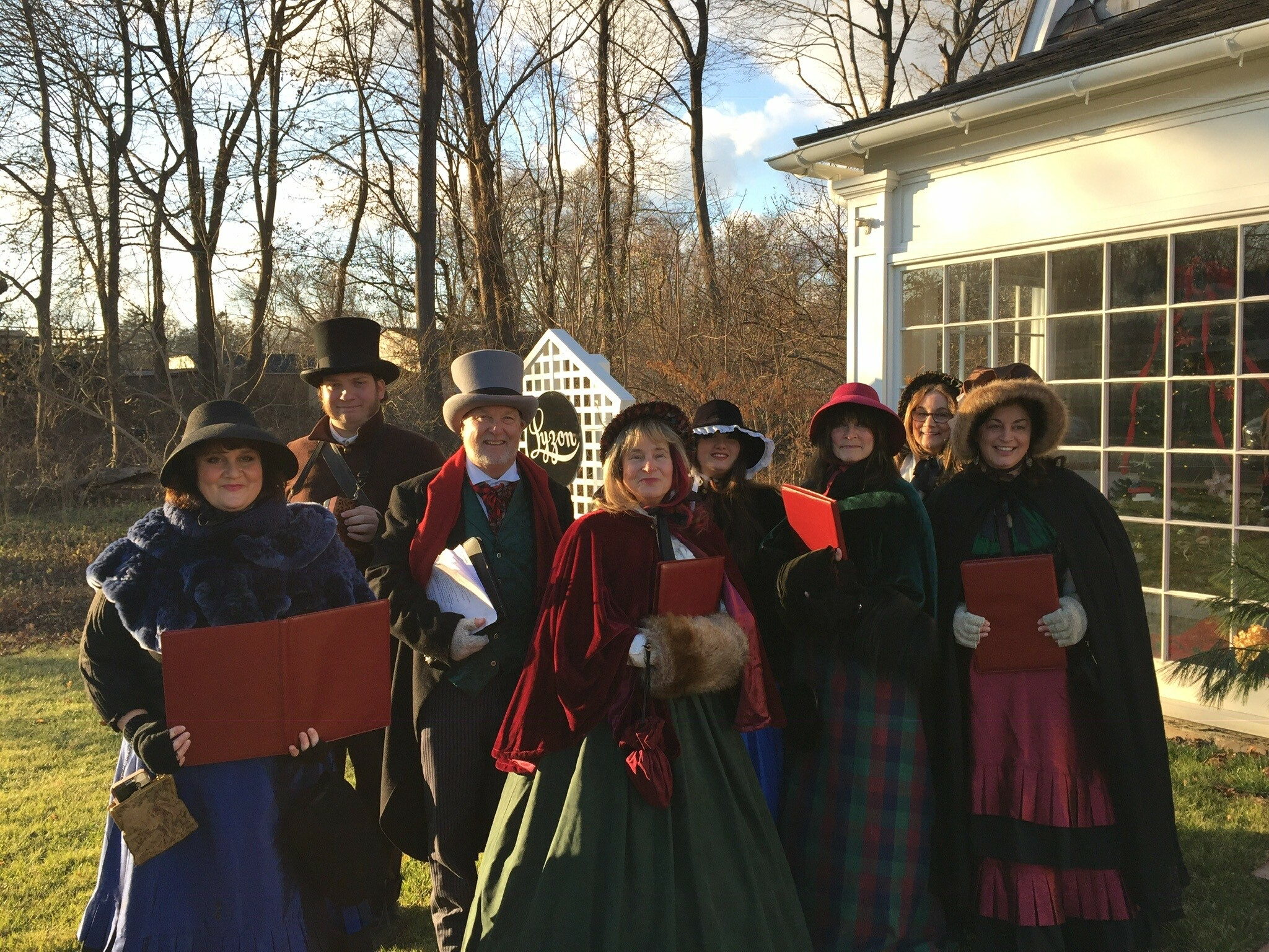 Bonnie Grice and The Dickens Carolers in previous years