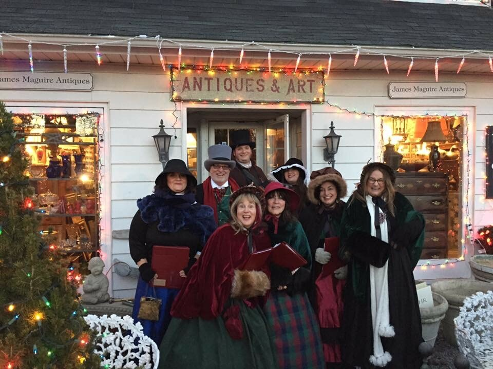 Bonnie Grice and The Dickens Carolers in previous years.BOOTS ON THE GROUND THEATER
