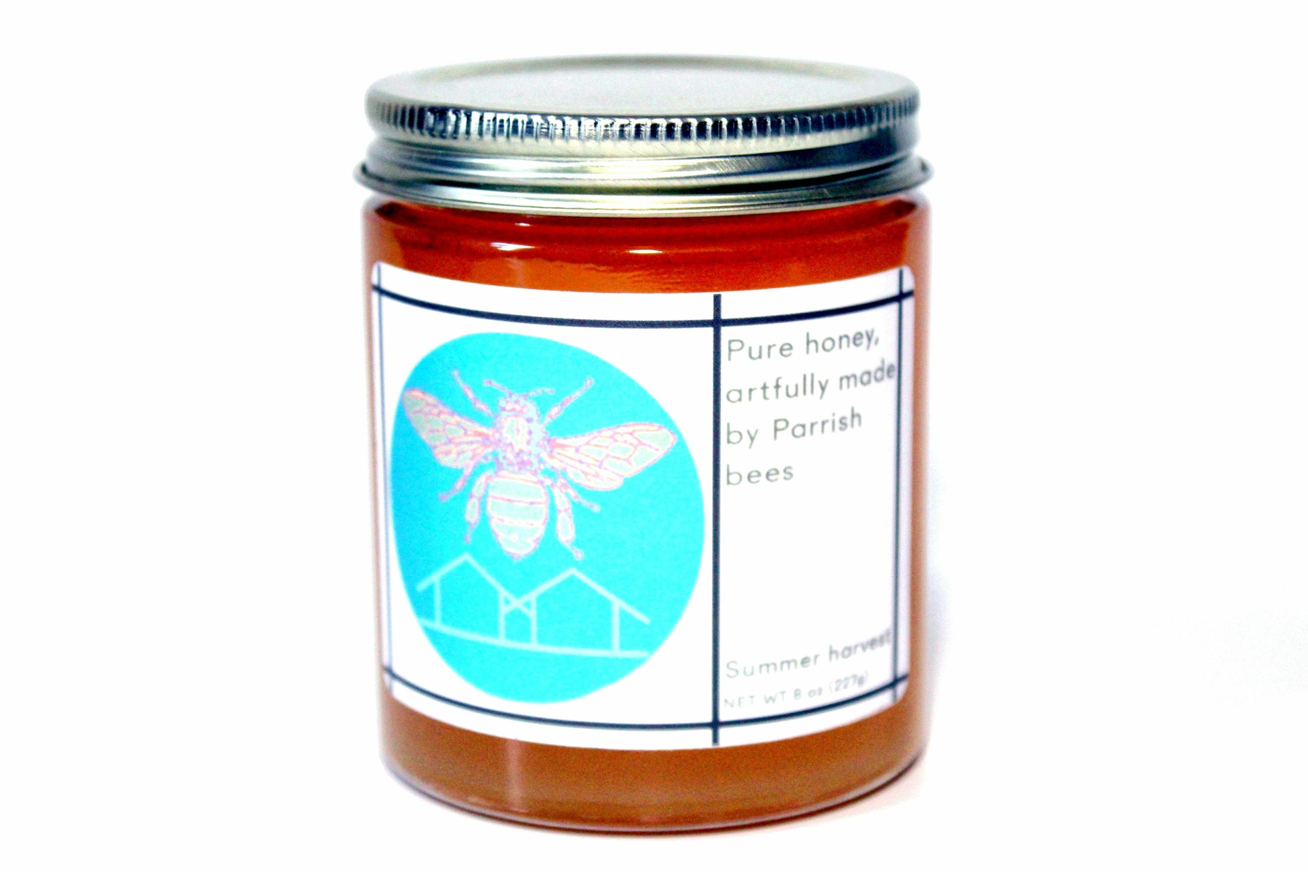 The Parrish Art Museum has jars of honey from its own hives ready for eating.