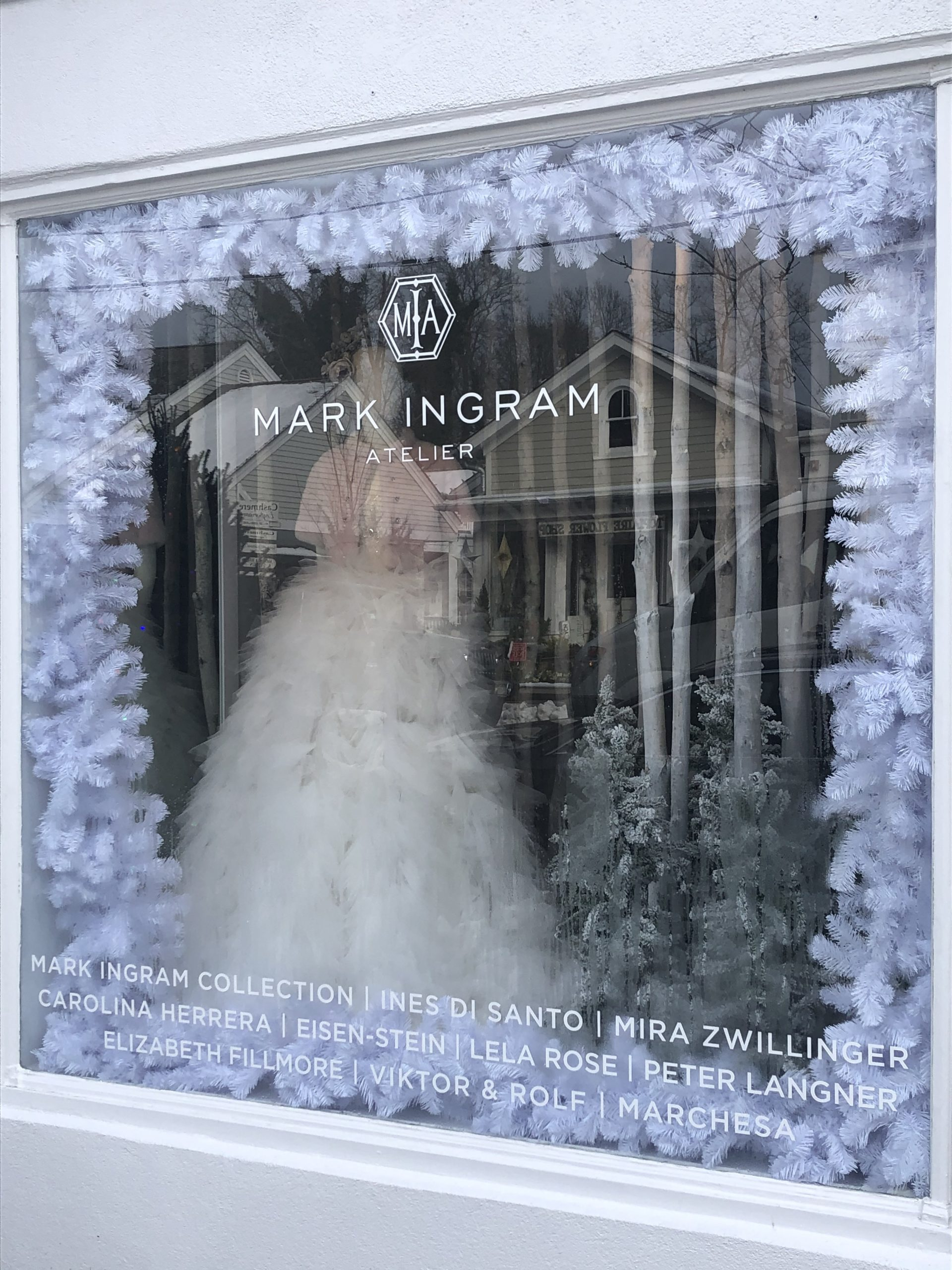 Mark Ingram Atelier took first place for window display in the Southampton Village Holiday Window Contest, followed by Topaire and Therapy. Italian restaurant Saint Ambreous won a building-only category in the annual