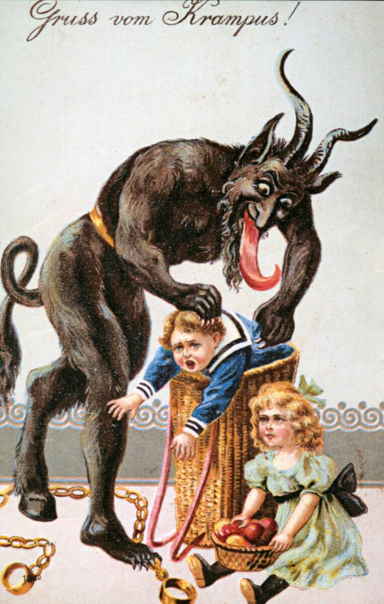 Krampus was a Victorian-era Christmas demon who was said to punish naughty children.