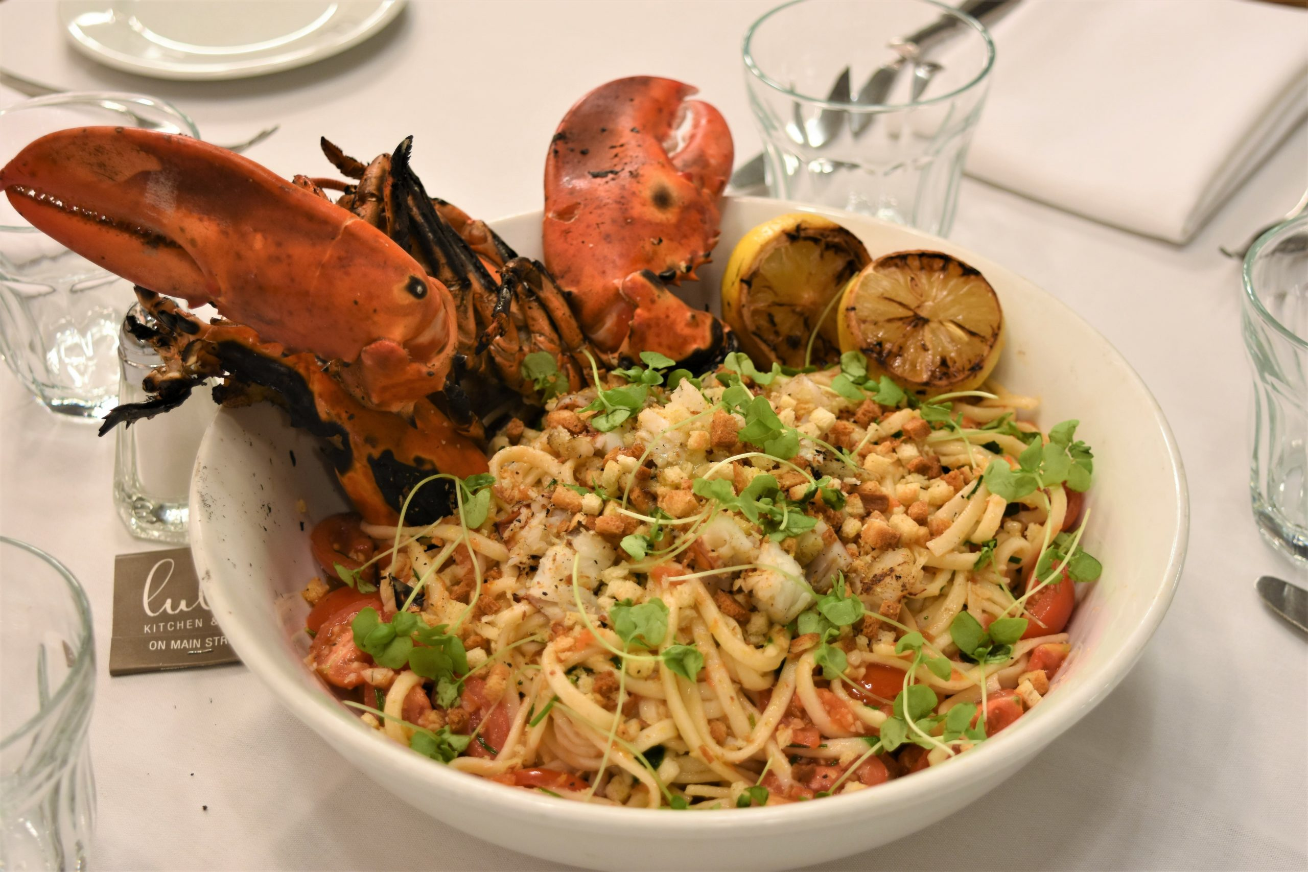 Lulu Kitchen & Bar's lobster pasta for two.