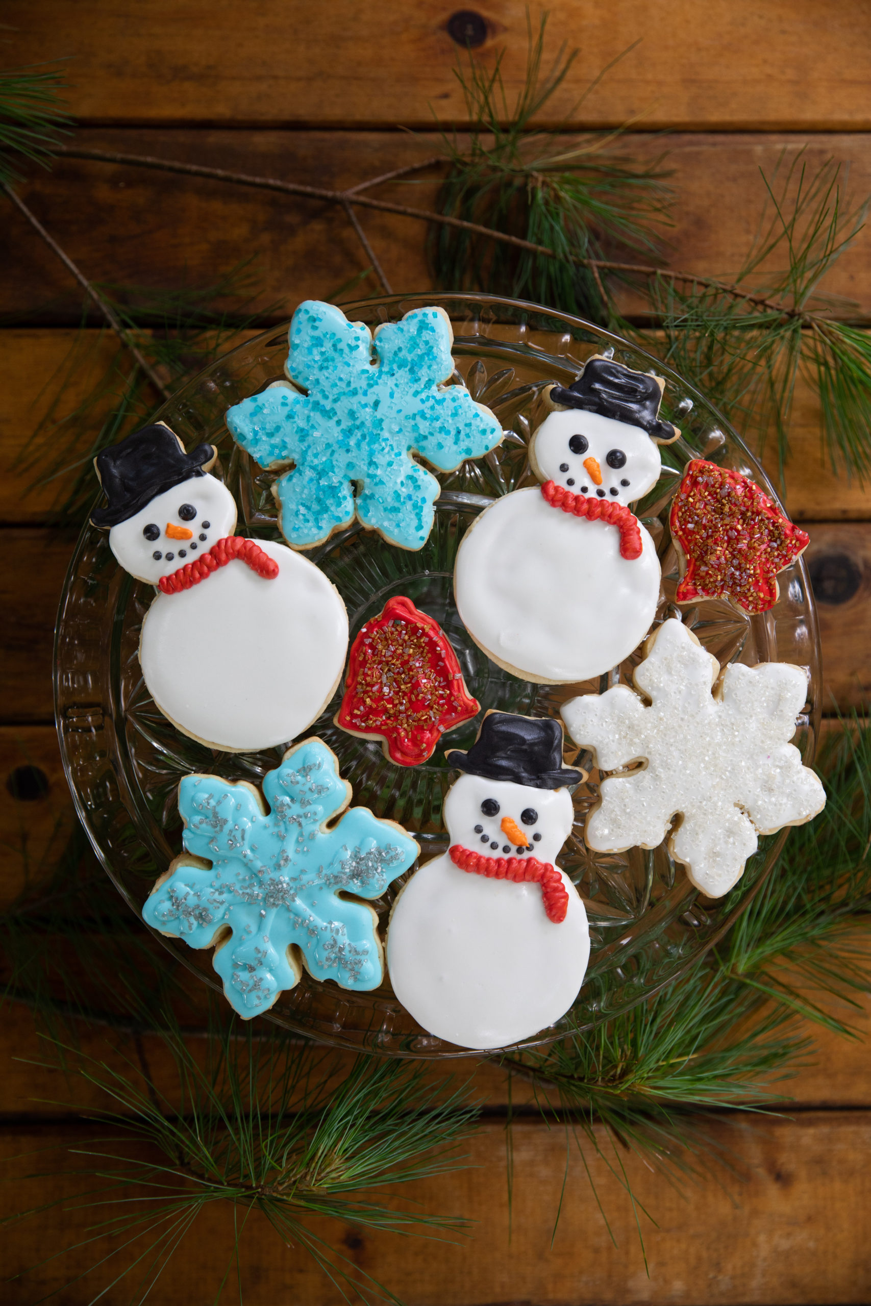 Festive sugar cookies from the Loaves and Fishes Farm Series of cookbooks.