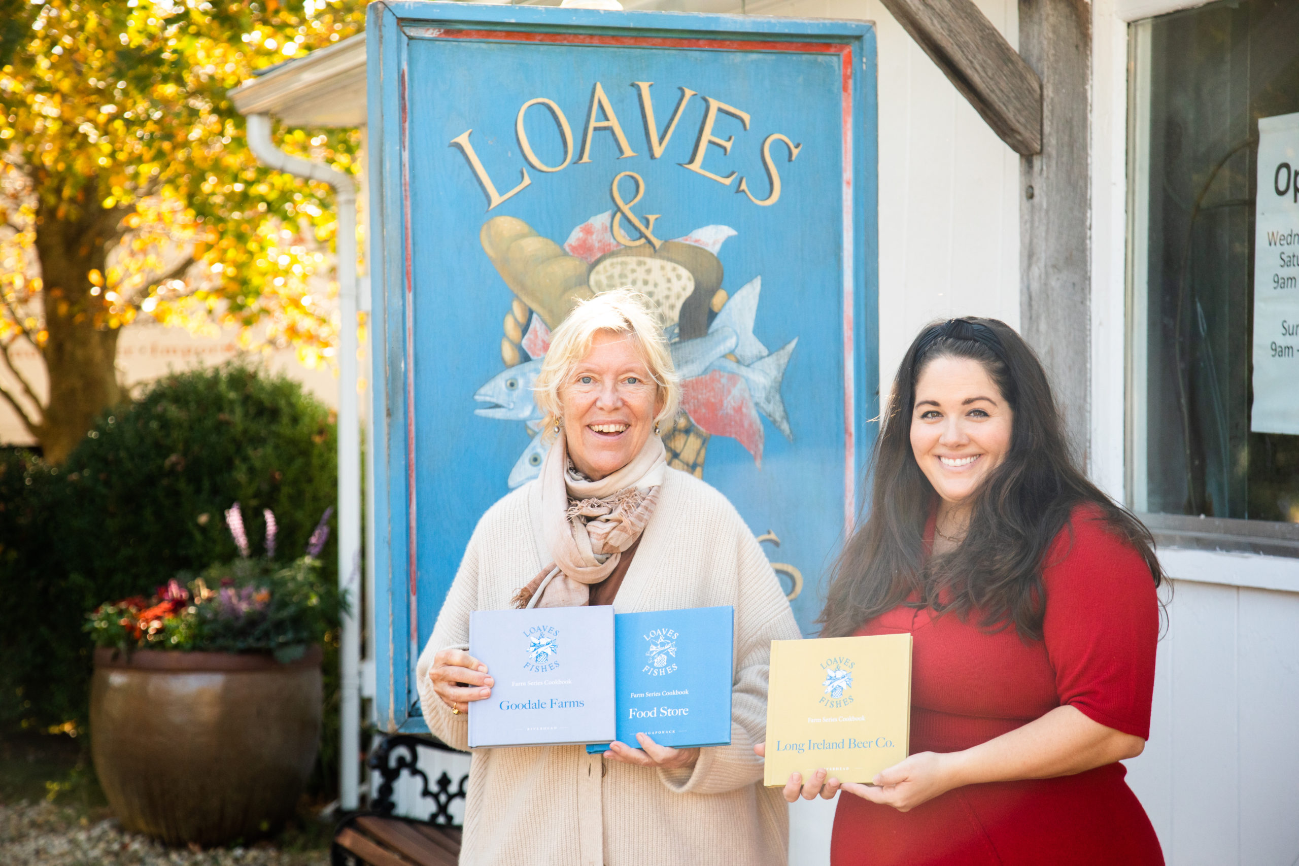 Sybille van Kempen and Licia Kassim Householder, authors of the Loaves & Fishes Farm Series.