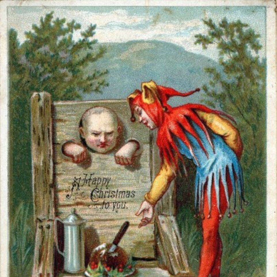 Victorian Christmas cards often had less than uplifting sentiments.