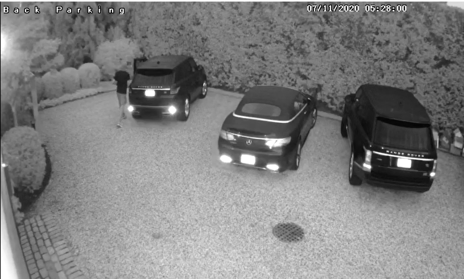 Home surveillance video captured images of one of the dozens of car thefts in Southampton.  COURTESY STPD