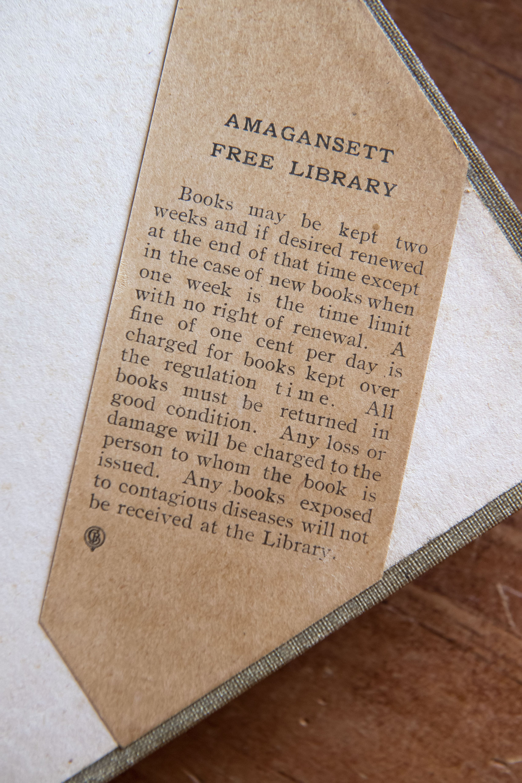 The library policy that was in place when the book was last in circulation.
