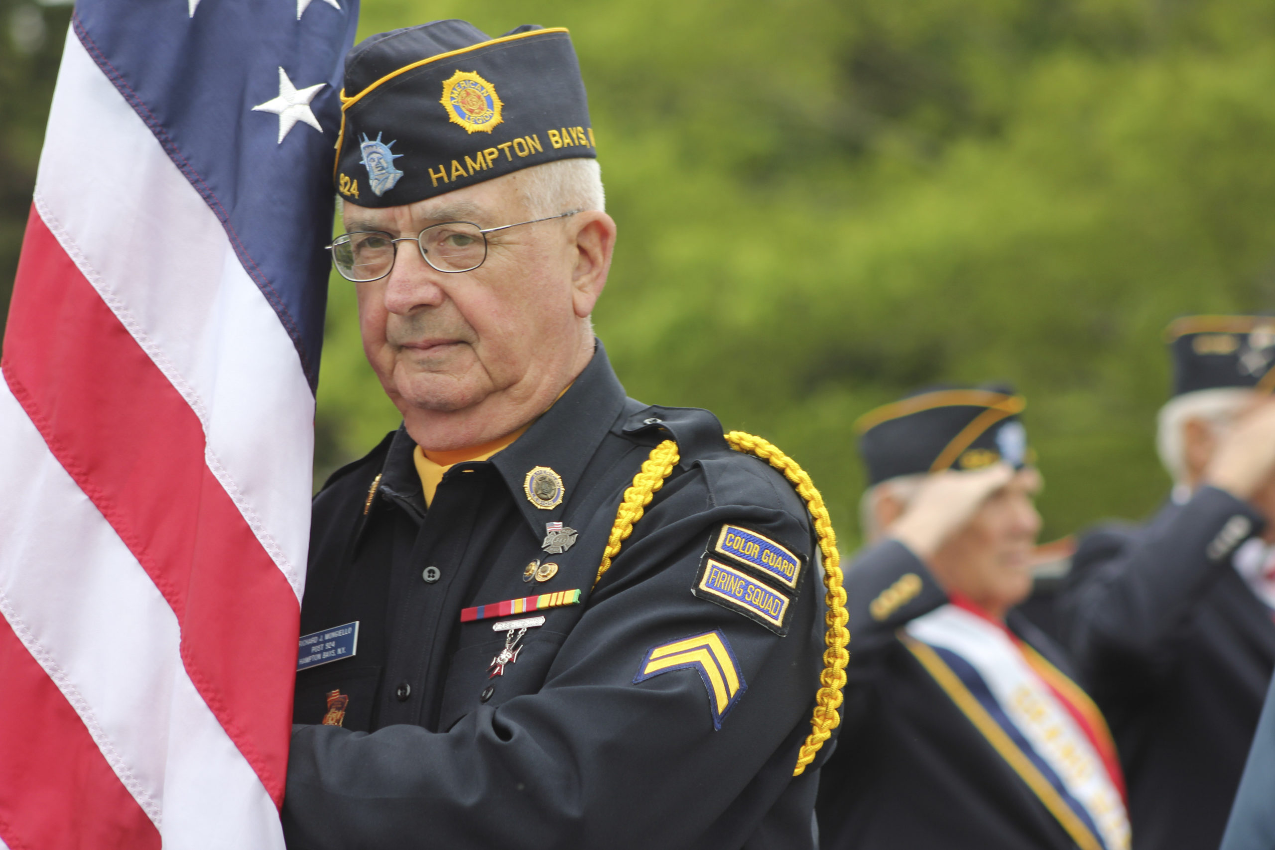 Richard Mongiello during the 2018 Memorial Day observance.