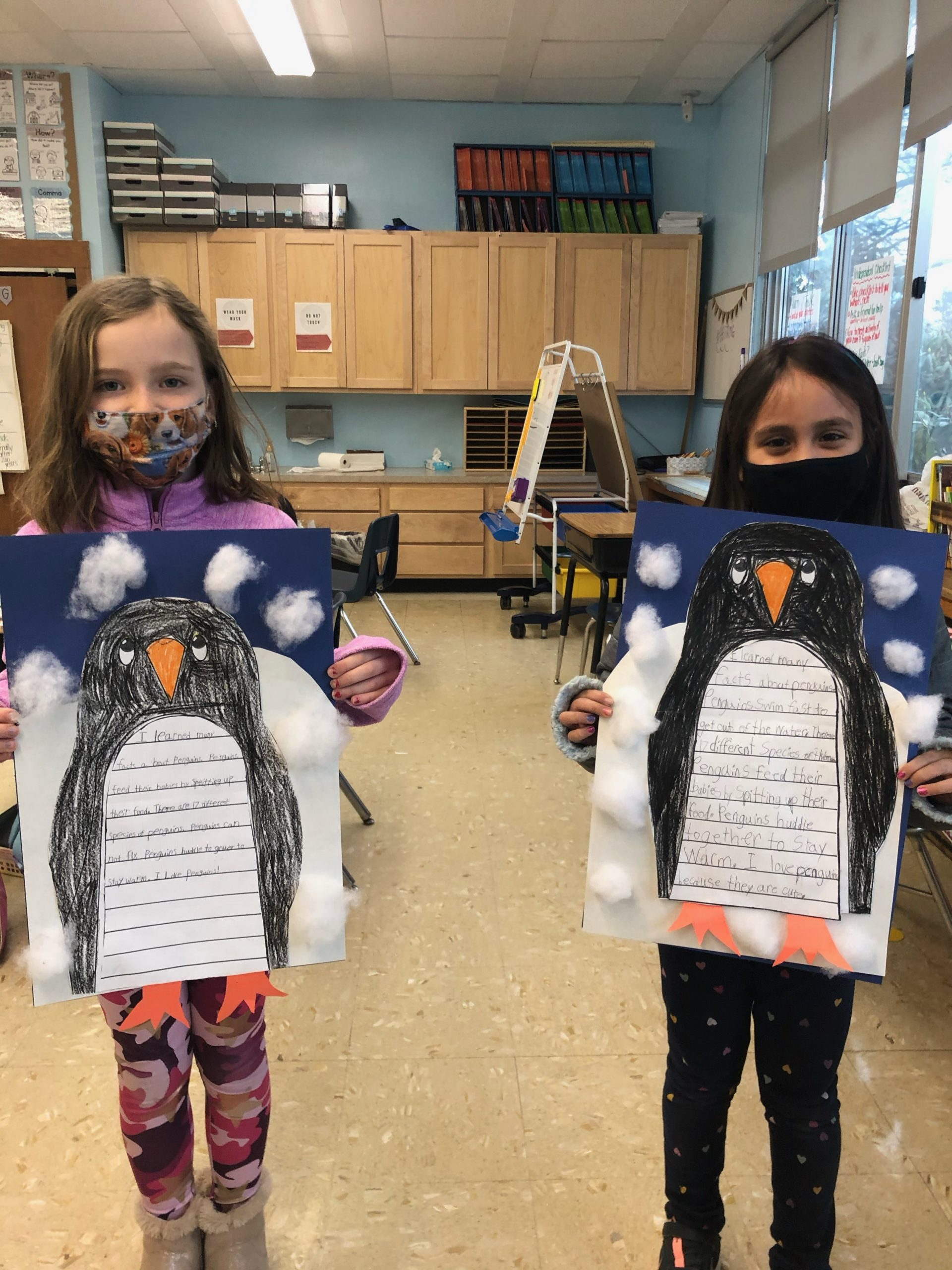 Hampton Bays Elementary School second graders learned more about penguins recently.