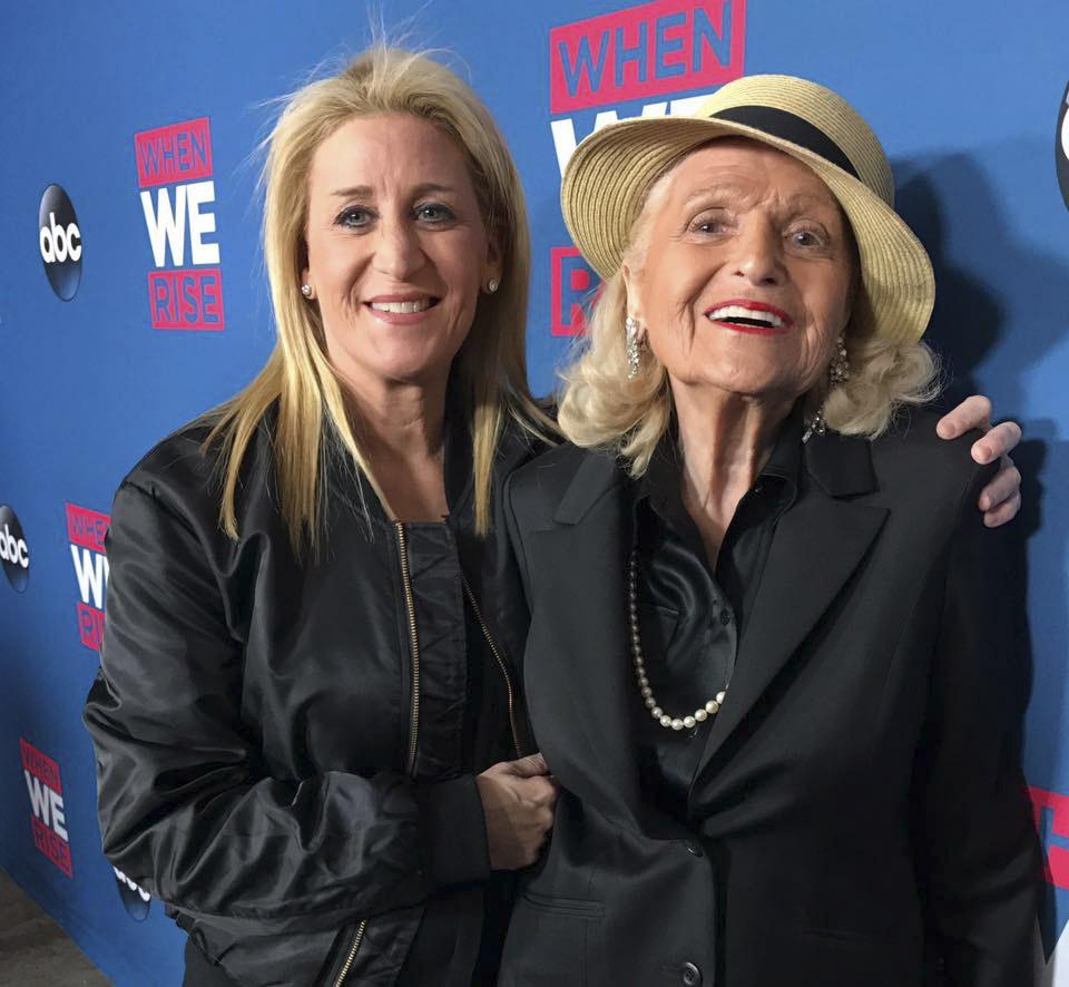 Edie Windsor, right, with her wife, Judith Kasen. COURTESY JUDITH KASEN