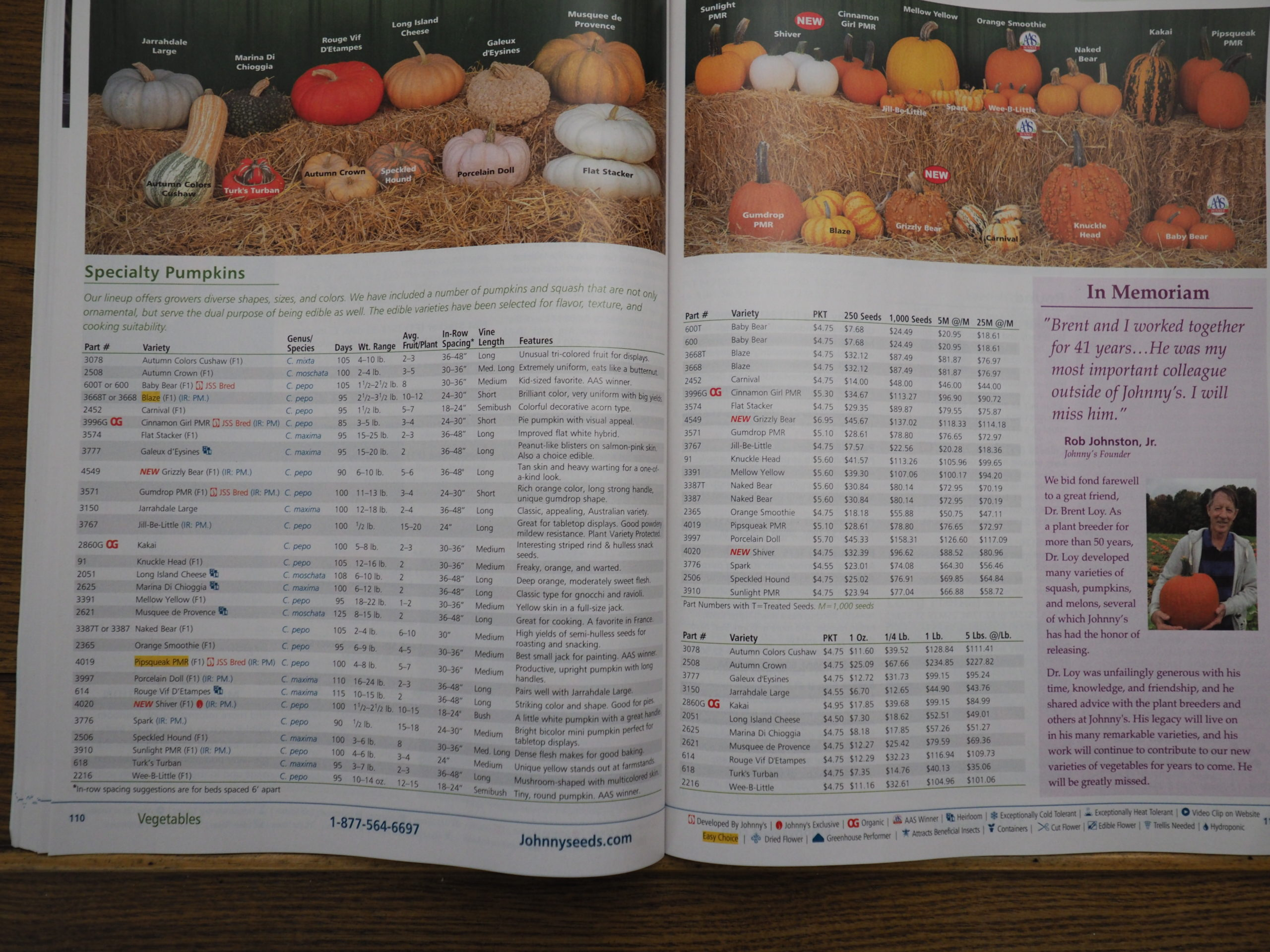 Johnny's Selected Seeds offers scores of choices when it comes to pumpkins.  These two pages show and describe only 30 of the more than 60 pumpkin varieties that Johnny's includes in its 2021 catalog.