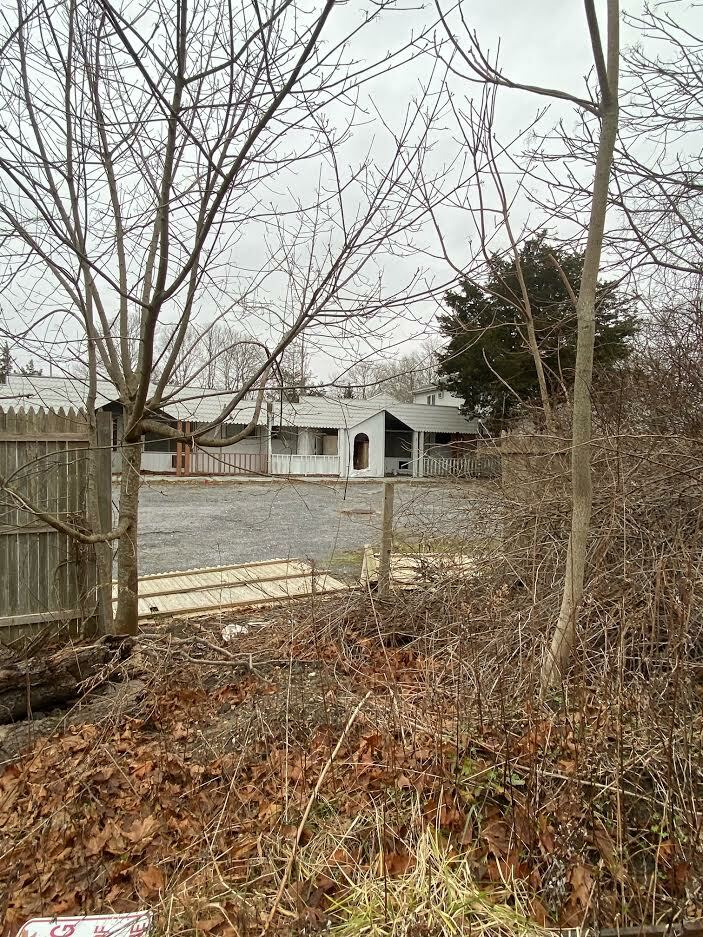 The site of the old Bel-Aire Cove motel in Hampton Bays continue to deteriorate.