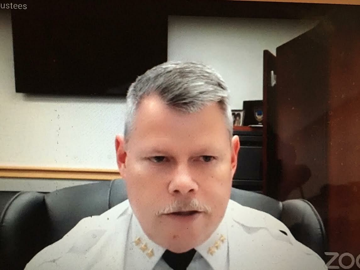 Southampton Village Police Chief Thomas Cummings gave an overview of his department's work toward meeting the goals laid out in Governor Andrew Cuomo's reform requirement during the stakeholder teleconference.