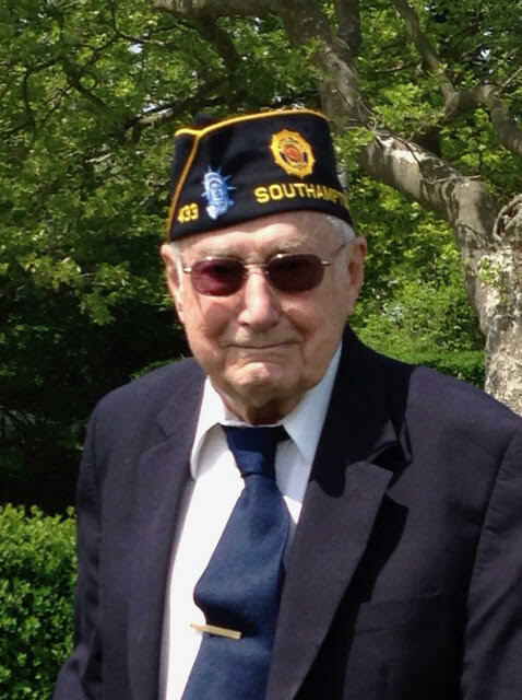 Southampton Village resident, World War II veteran   and decades-long member of the American Legion,  John Holden turns 100 years old this week.