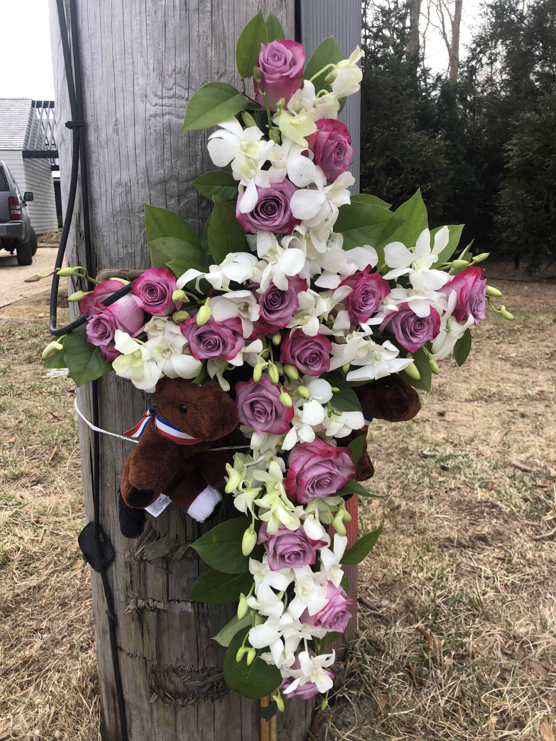A memorial for hit and run victim Yuris Murillo Cruz has been erected near the area of the accident.    MICHAEL WRIGHT