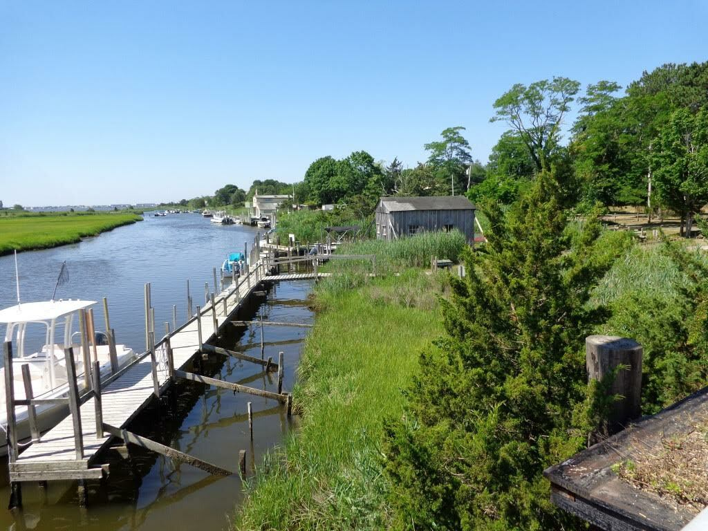 Property with an old fish house and marina  in Westhampton became part of Southampton Town's CPF holdings in 2020.