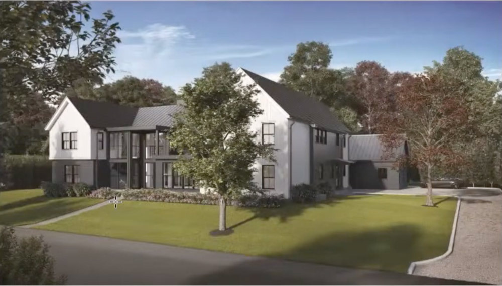 A rendering of a house proposed on Marsden Street in Sag Harbor.
