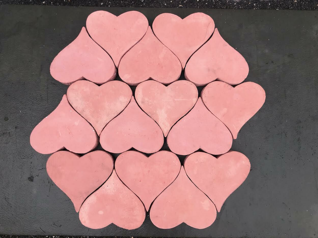 Interlocking stone hearts will form the platform where couples will stand for their marriage ceremonies.