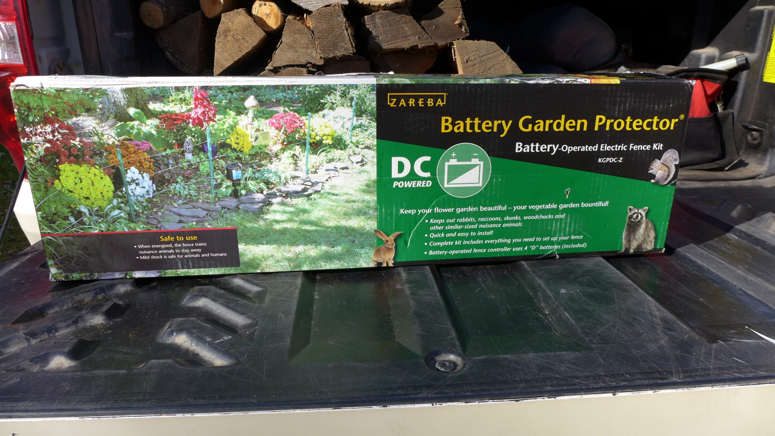 The Zebra Battery Garden Protector is about $120 for a starter electric fence that can protect most modest-size home veggie gardens.