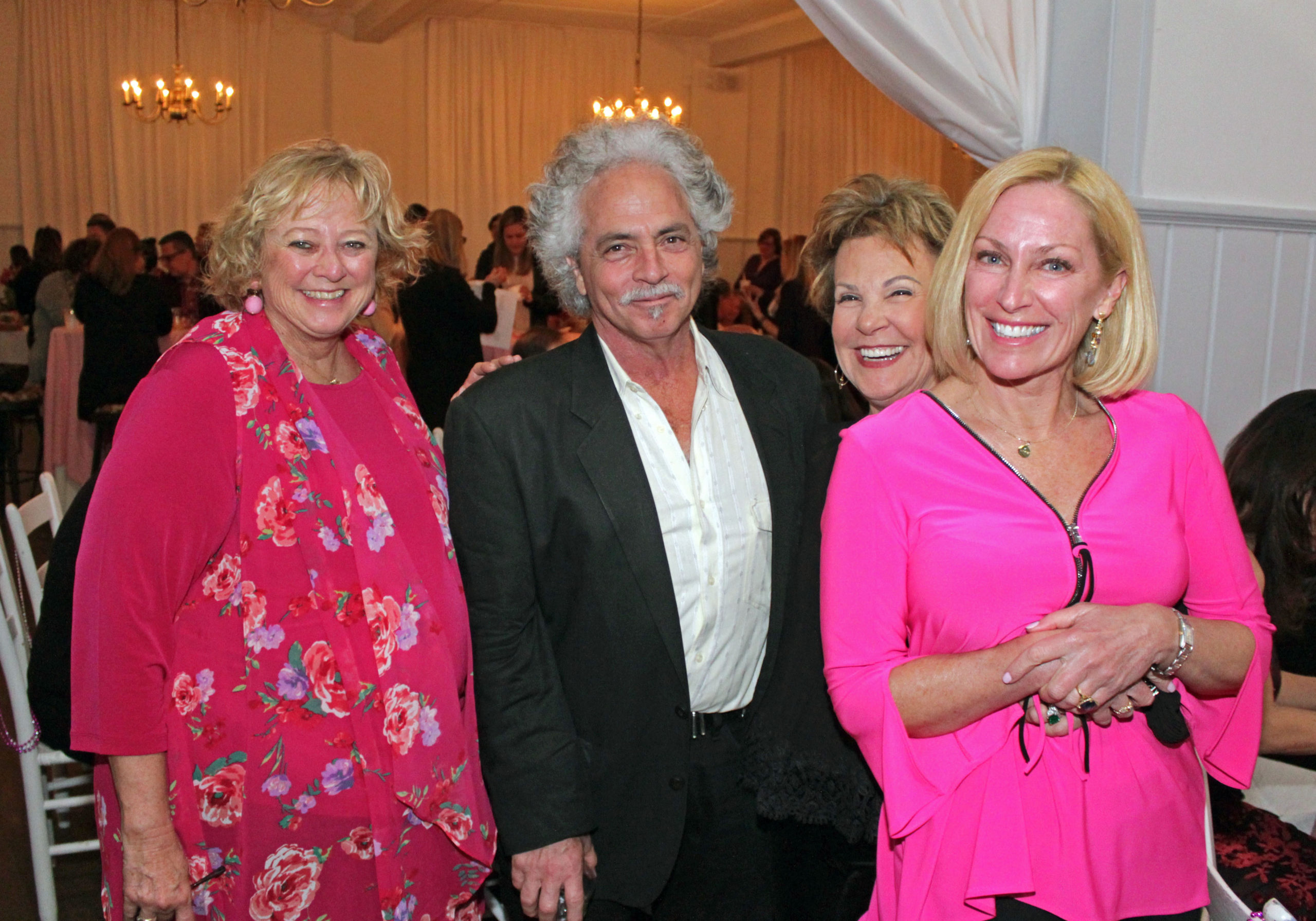 "Susie Roden, left,  Russell Blue, Lynn Leff and Stacy Quarty at the ""In The Pink"" benefit for the Ellen Hermanson Breast Center at Stony Brook Southampton Hospital and Ellen's Well in April 2019."
