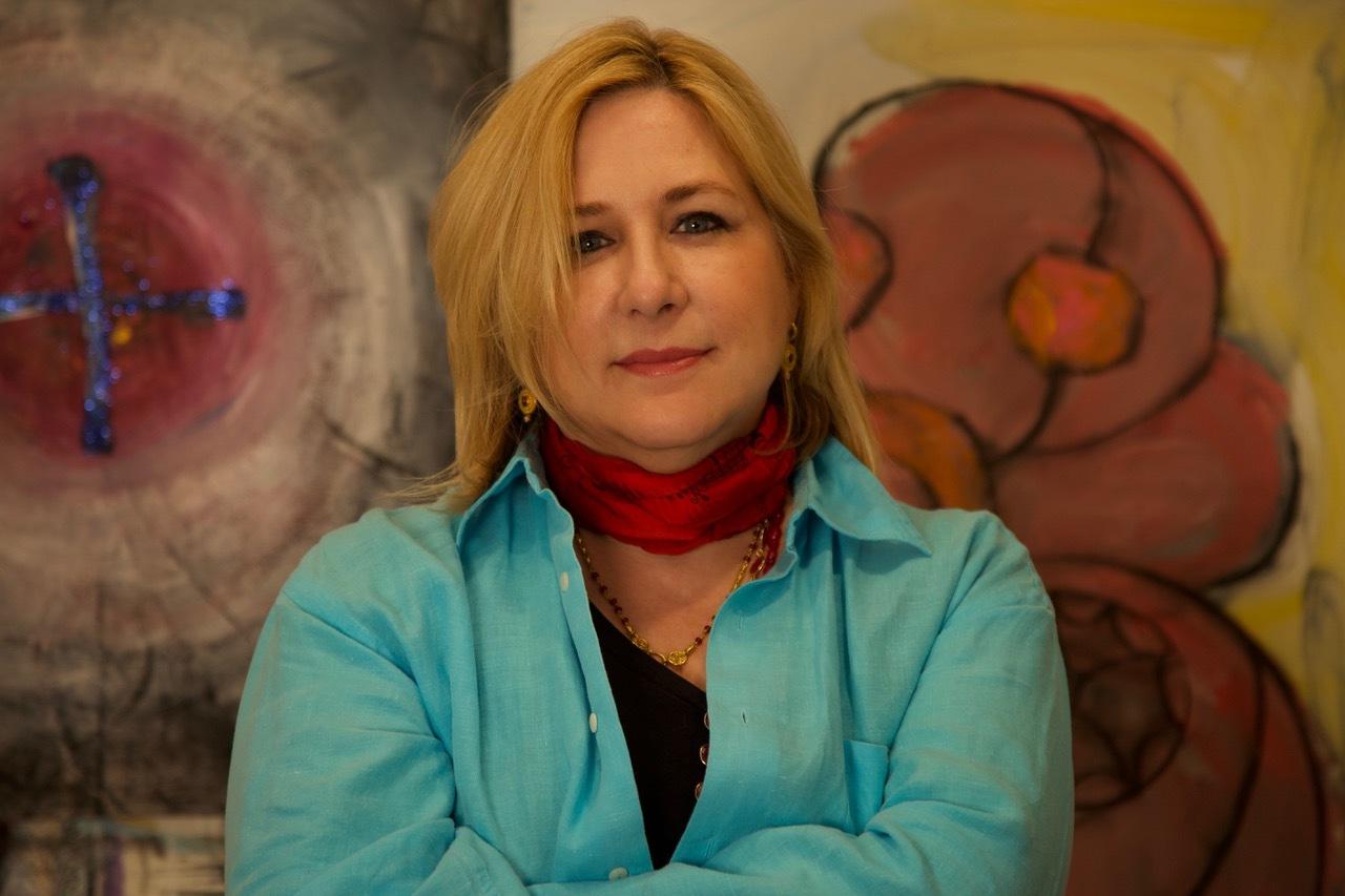 Artist Deborah Buck in her studio.