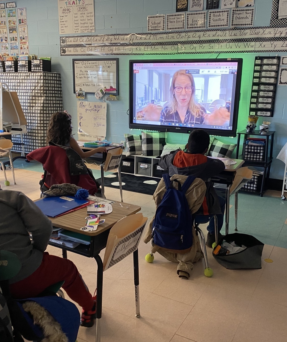 Hampton Bays Elementary School students virtually met author Julie Sternberg recently.