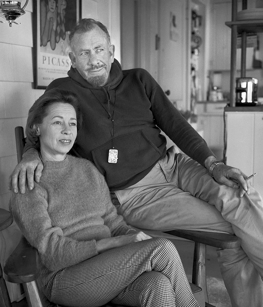 John and Elaine Steinbeck in 1950.