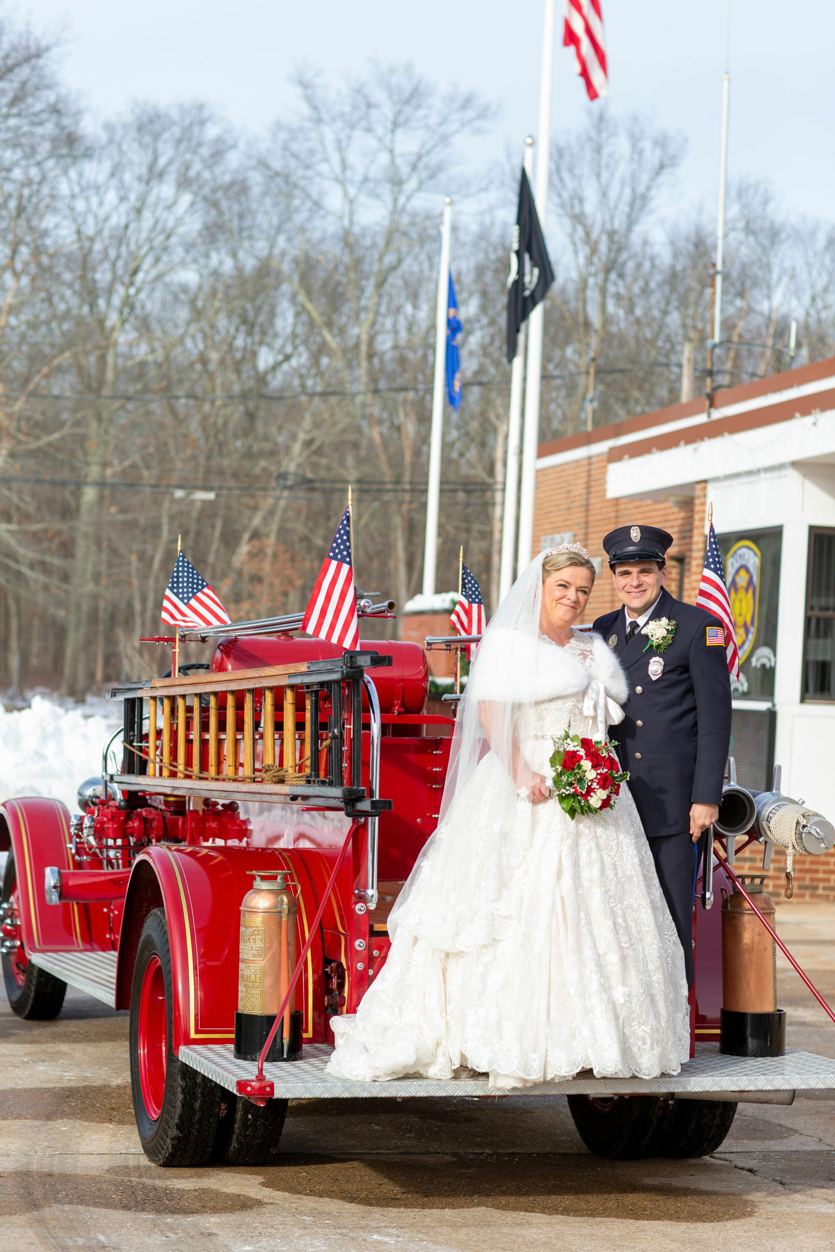 Newlyweds Billy Glover and Madeline Graham