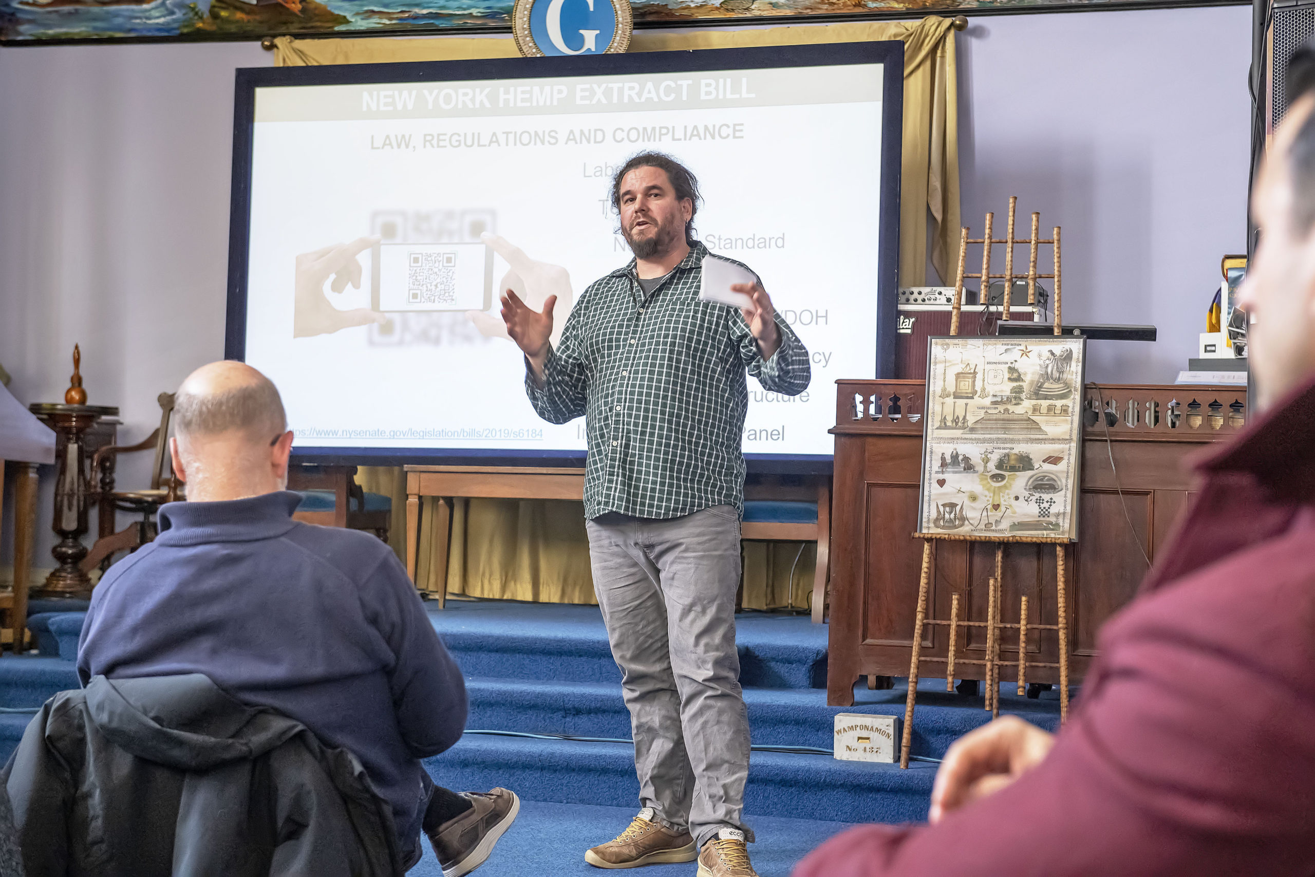 Open Minded Organics proprietor David Falkowski speaks during the New York State's Cannabis Programs in February of 2020.   MICHAEL HELLER