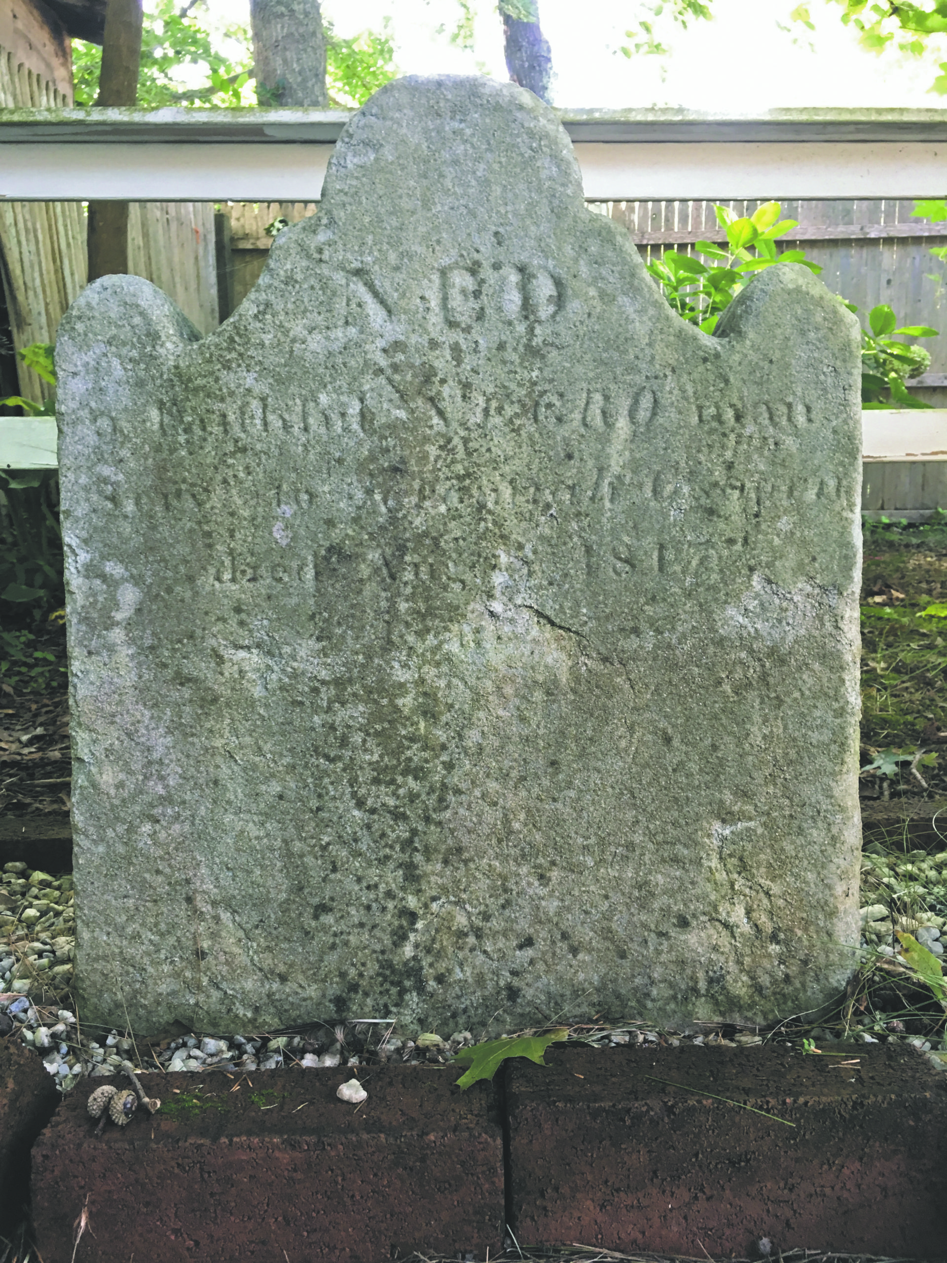 Ned is one of only two to have the only known headstones for people who had been enslaved in the Town of East Hampton, out of hundreds who we now know lived here.                                            Courtesy Plain Sight Project                                          Courtesy Plain Sight Project