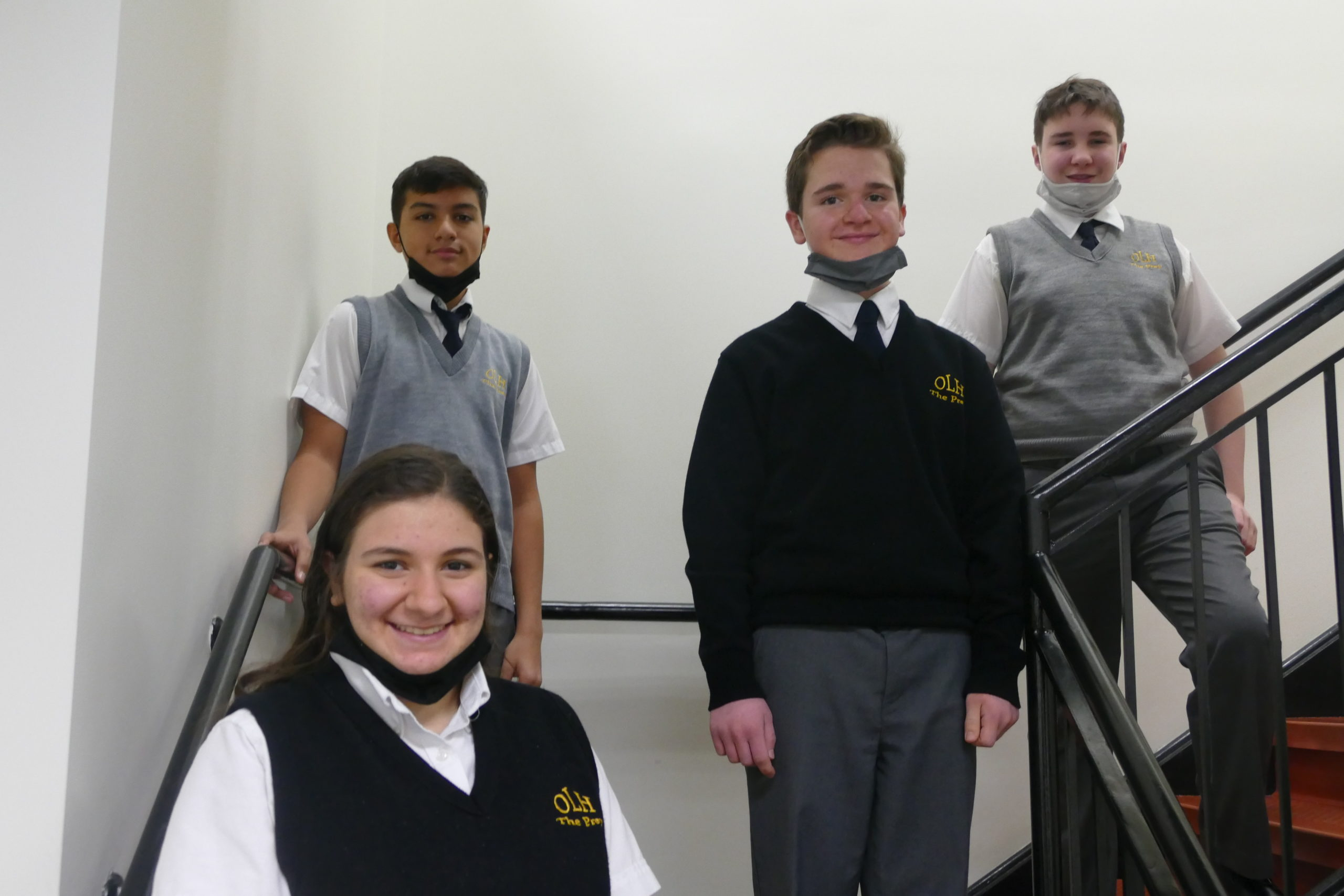 Sofia Patrone, Jack Leonard, Daniel Ospina and Patrick Kamm have earned scholarships to attend St. John the Baptist Discesan High School.
